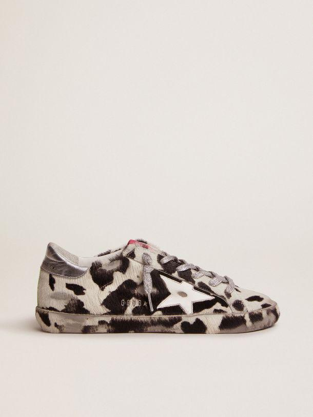 Super-Star LAB sneakers in cow-print pony skin and white leather star
