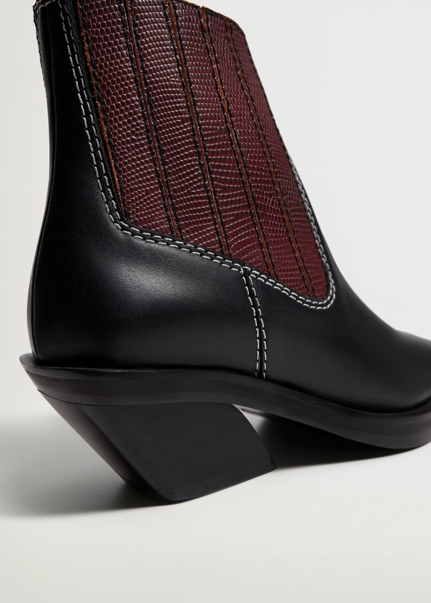 Leather cowboy ankle boots 2