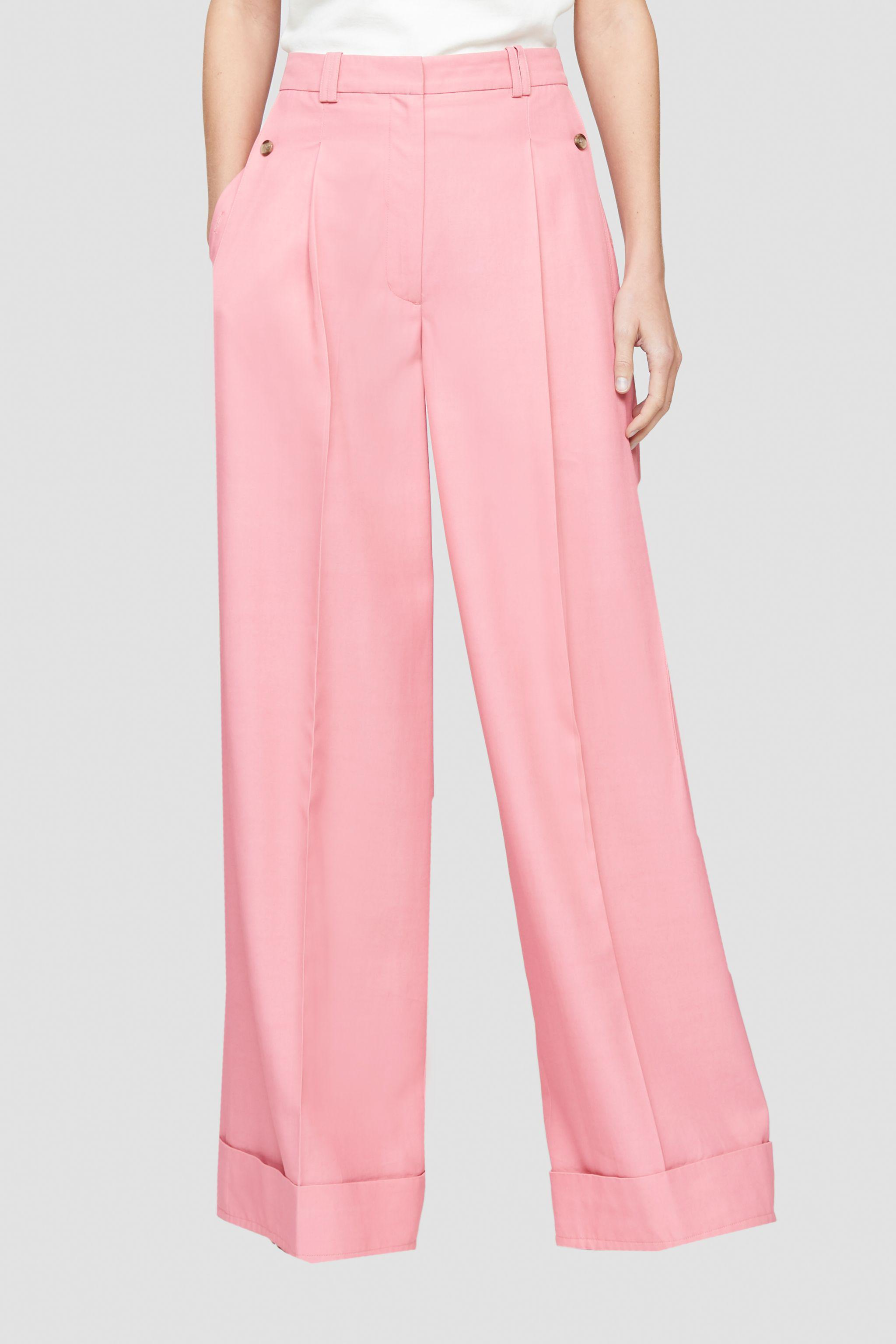 Flou pressed-crease palazzo trousers 1