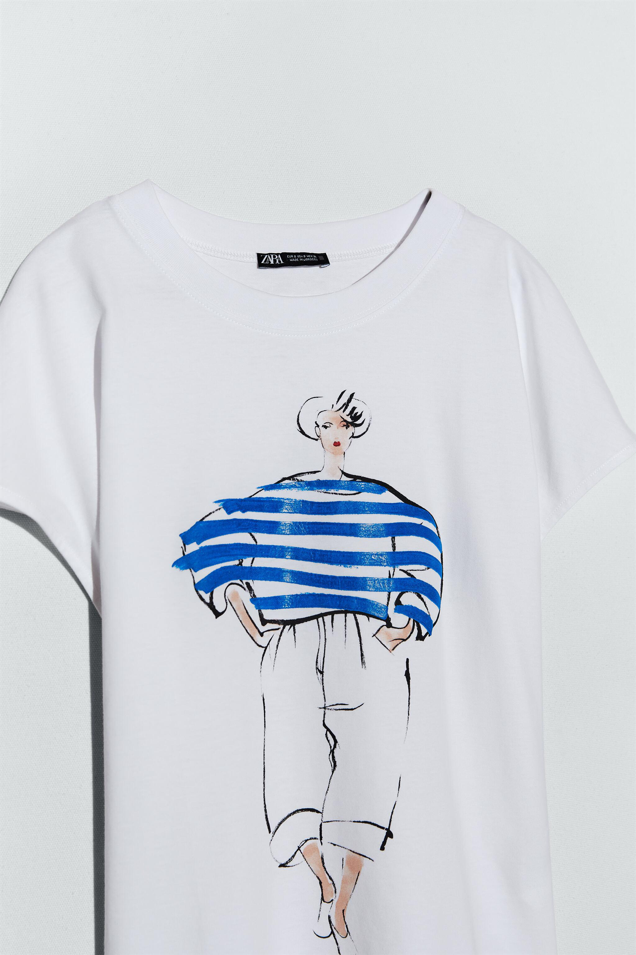 T-SHIRT WITH WOMAN PRINT 3