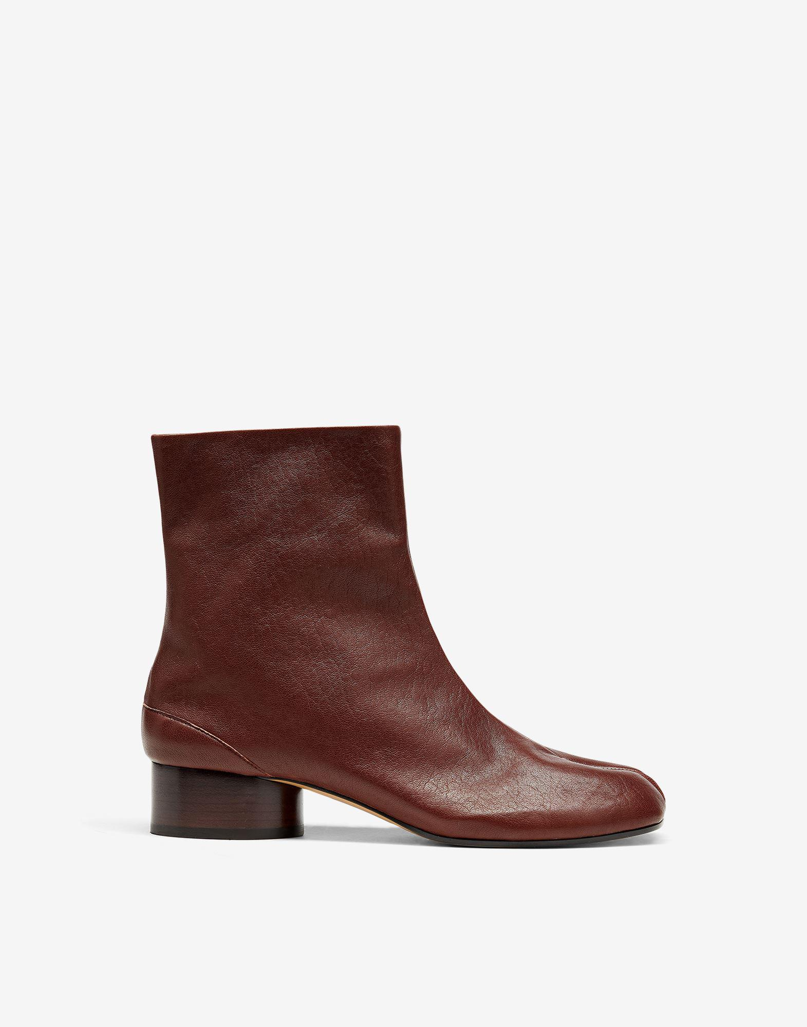 Tabi vintage leather ankle boots