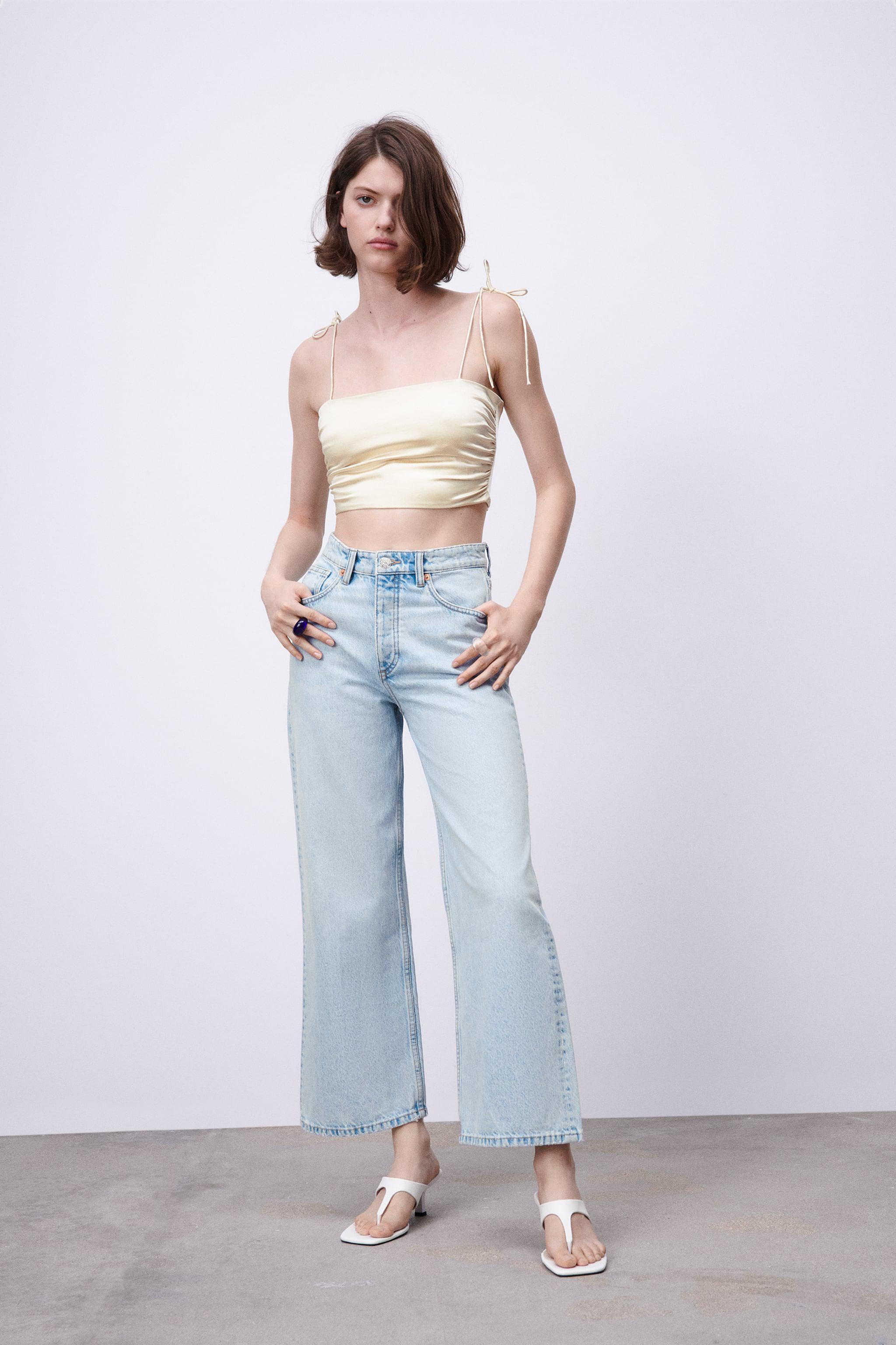 SATIN EFFECT STRAPPY TOP