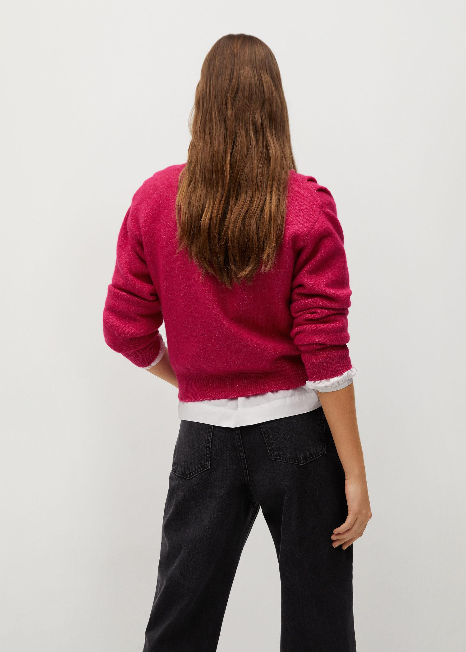 Pleated knit sweater 2
