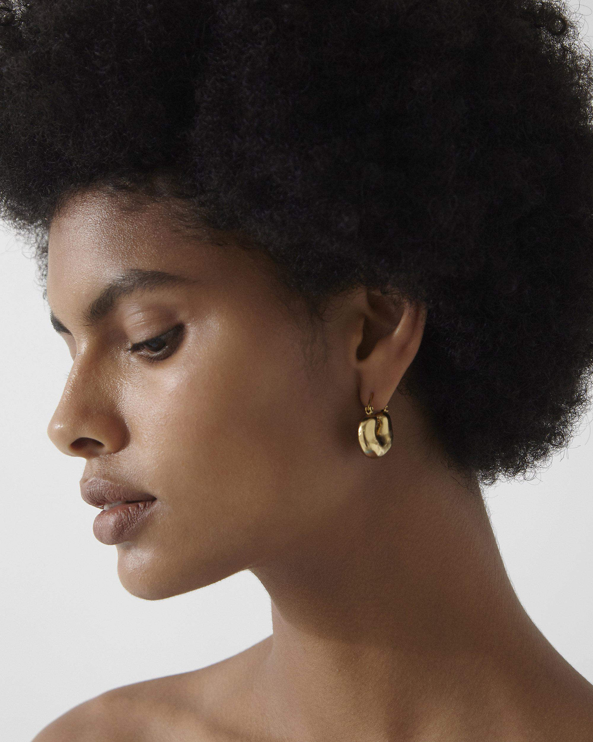 Crescent Hoops Gold Plated 2