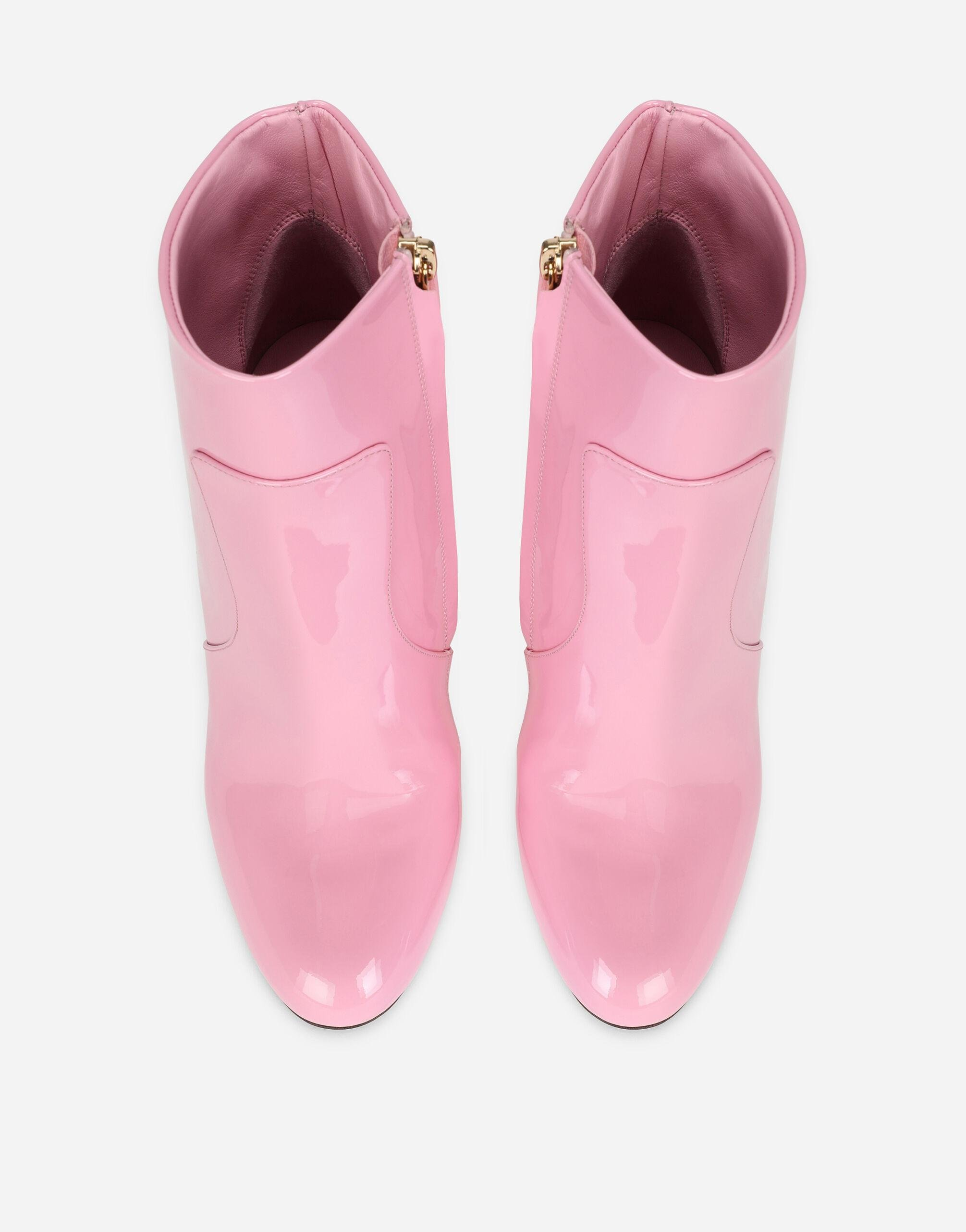 Patent leather ankle boots with DG Karol heel 3