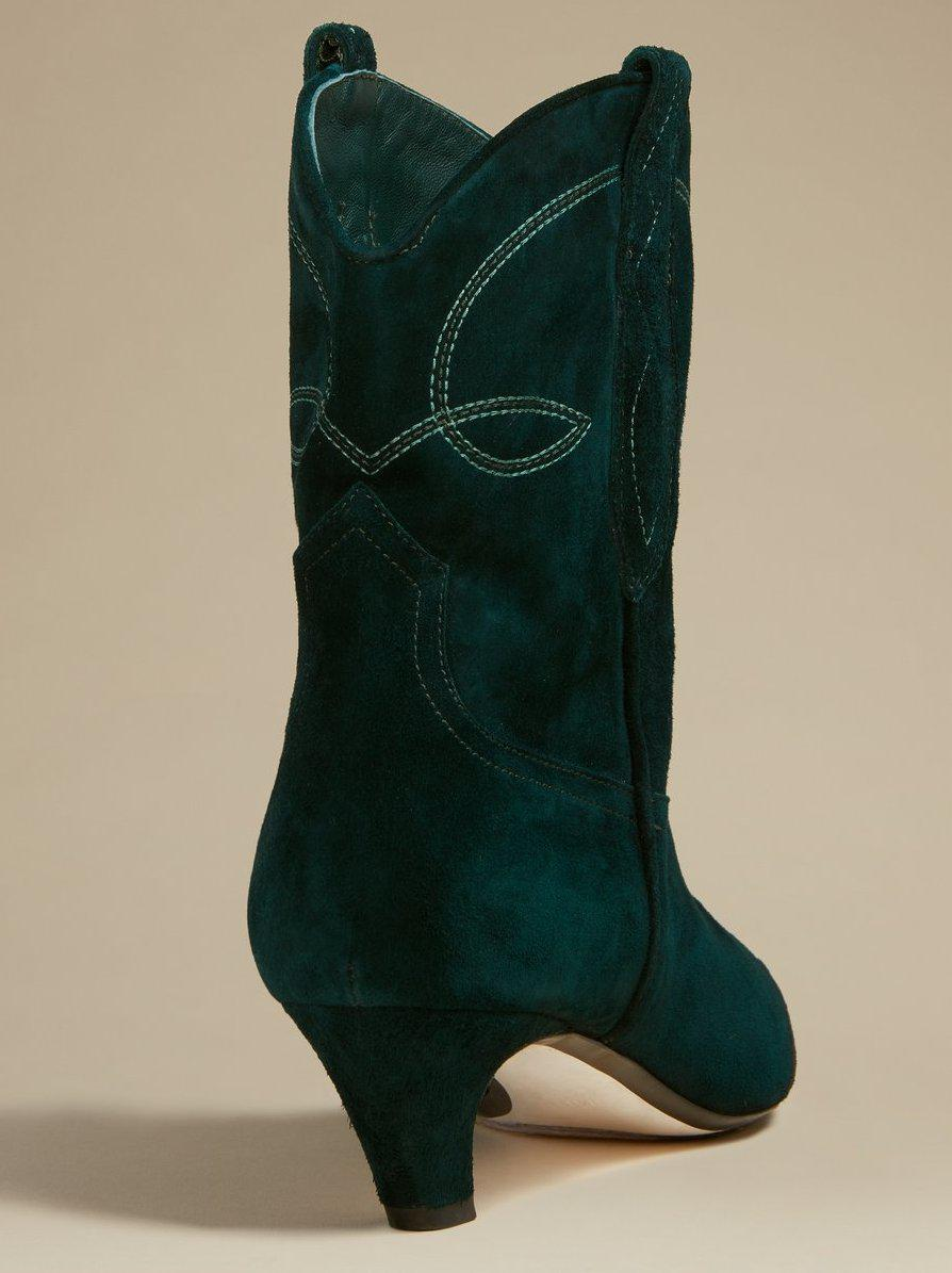 The Dallas Ankle Boot in Hunter Green Suede 2