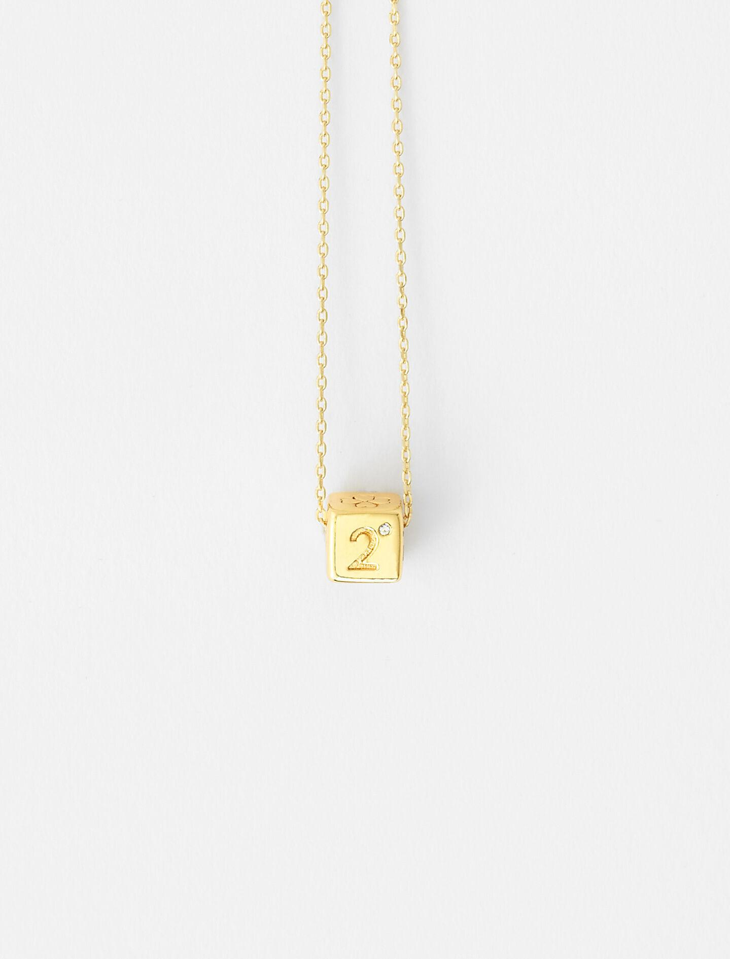 NUMBER 2 DICE NECKLACE