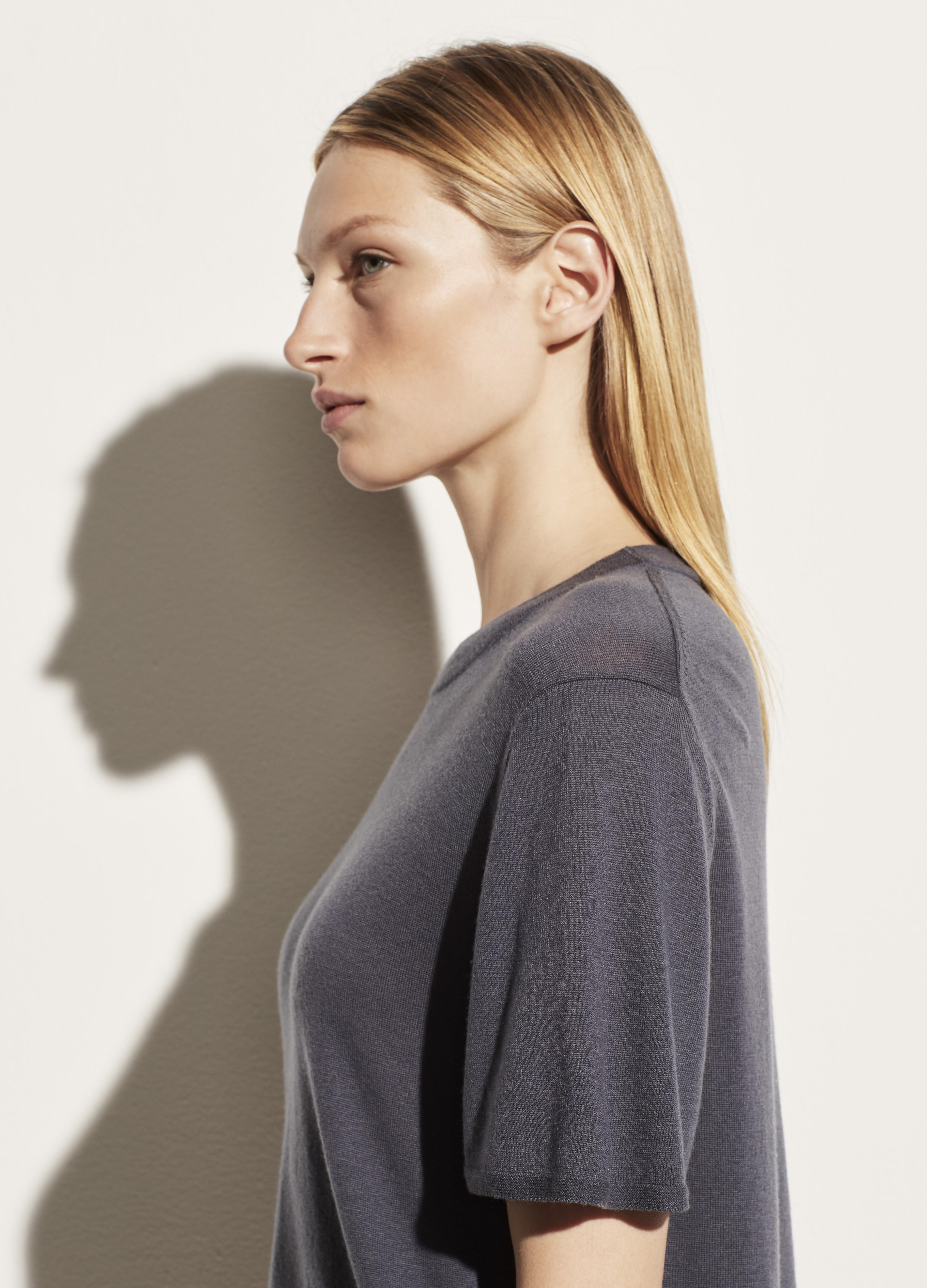 Wool Cashmere Easy Short Sleeve Crew 2