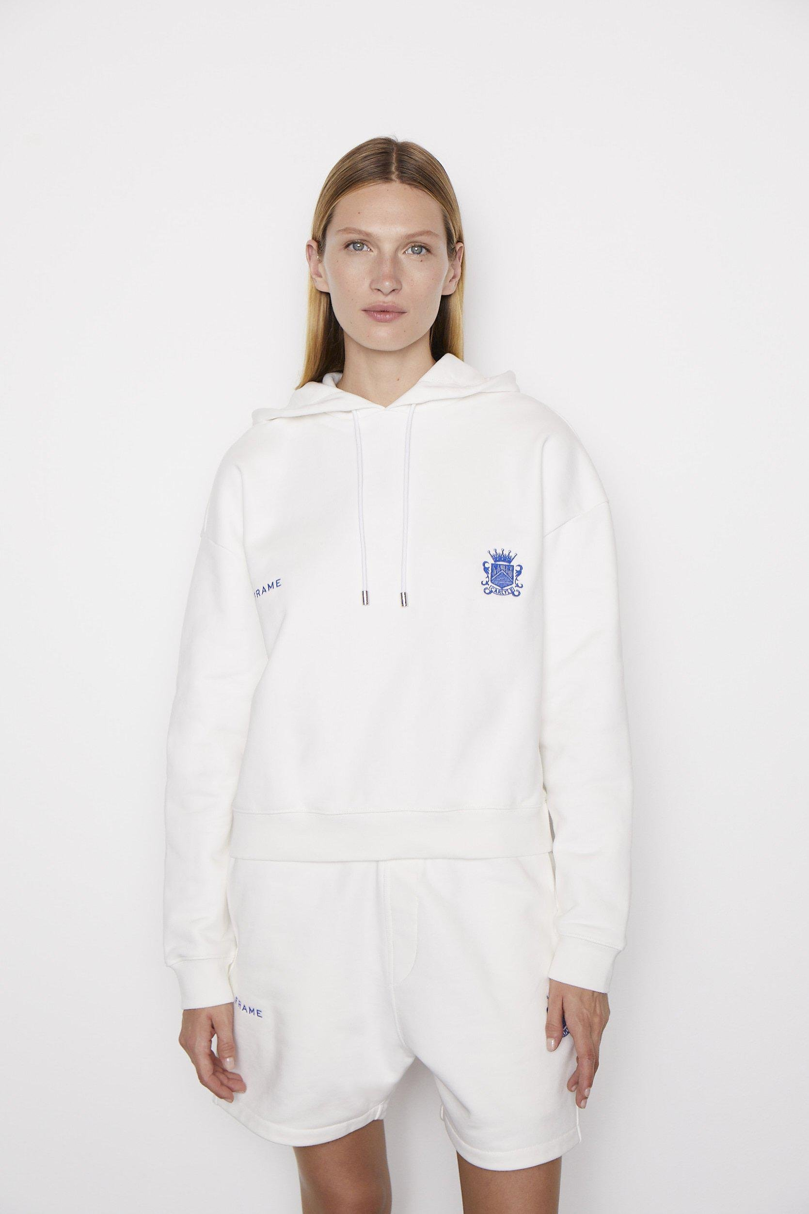 Oversized Carlyle Hoodie -- Blanc
