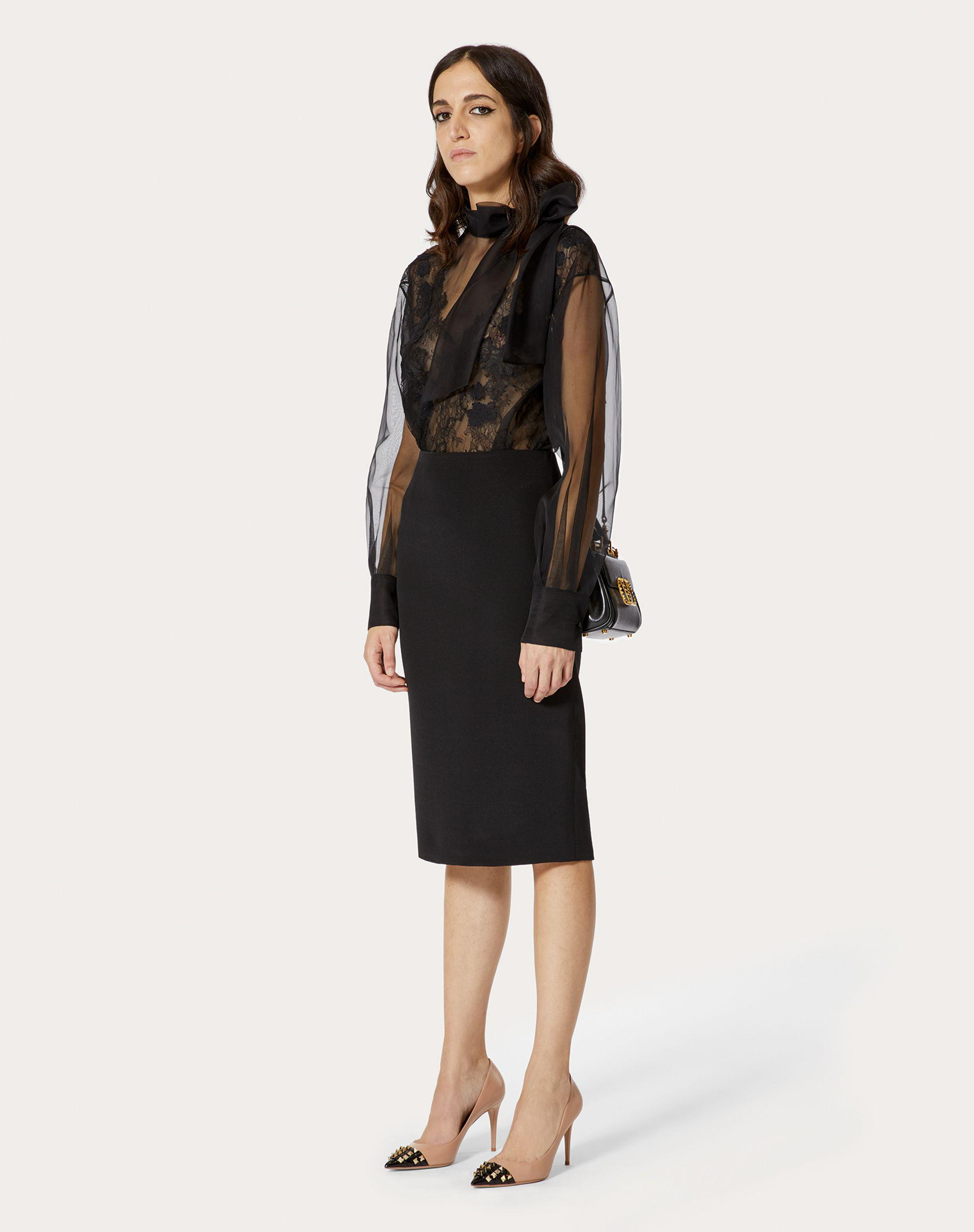 STRETCH CREPE COUTURE PENCIL SKIRT