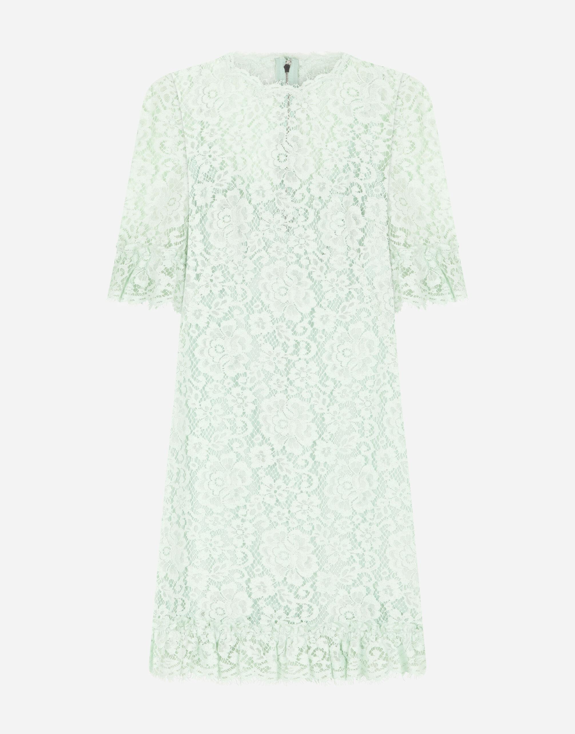 Short lace dress with ruching 3