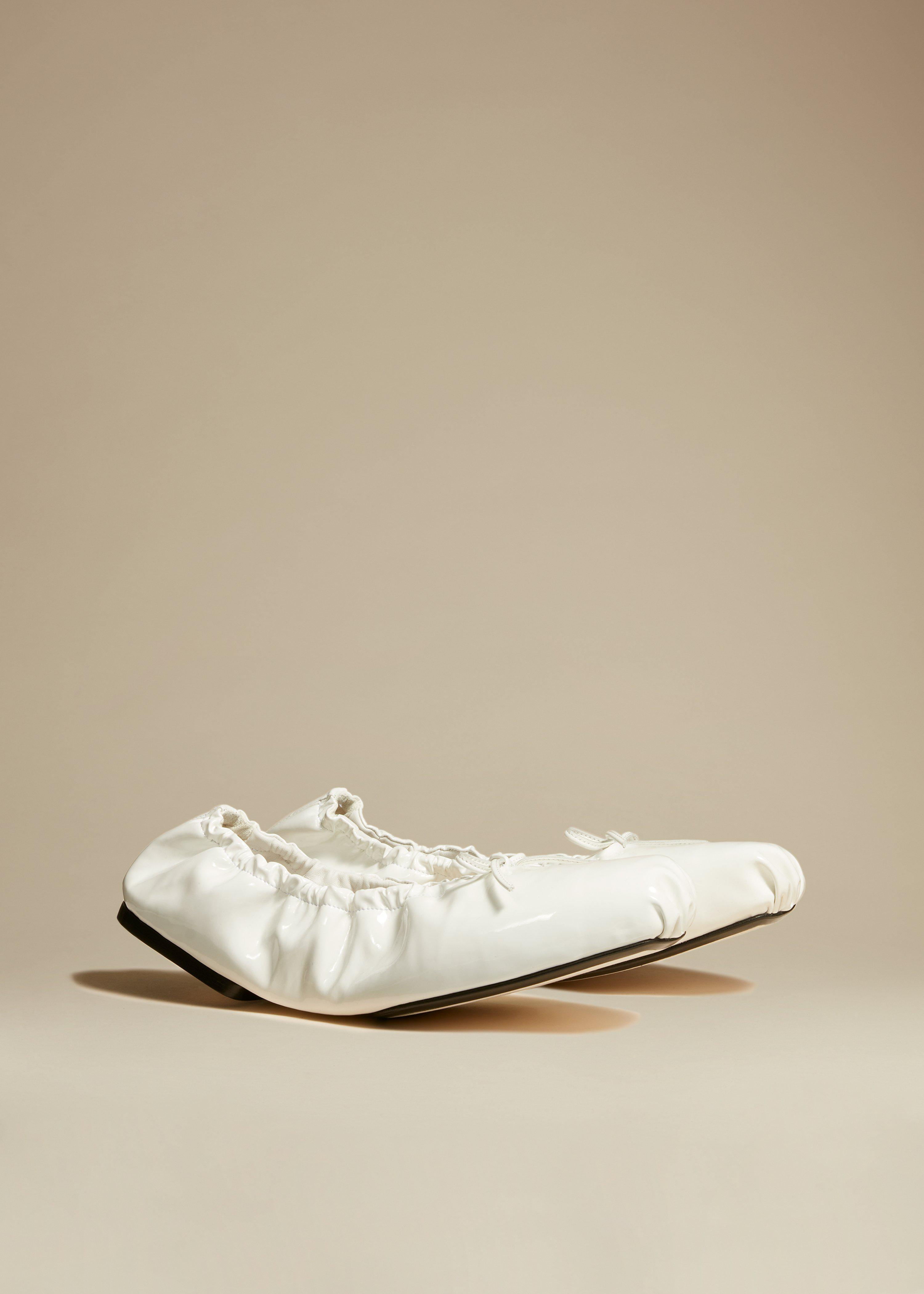 The Ashland Ballet Flat in White Patent Leather 1