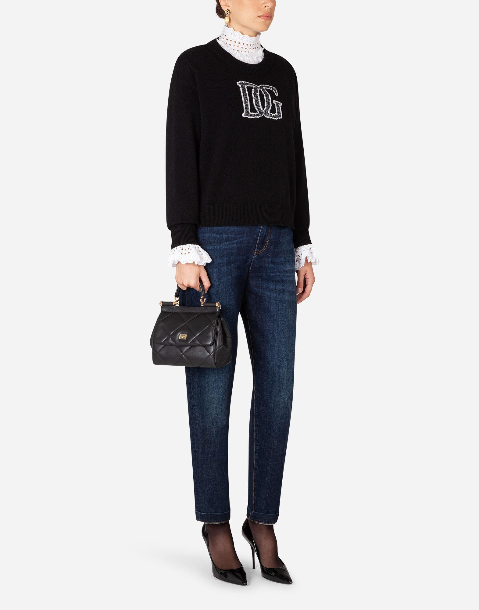 Cashmere sweater with logo intarsia 2