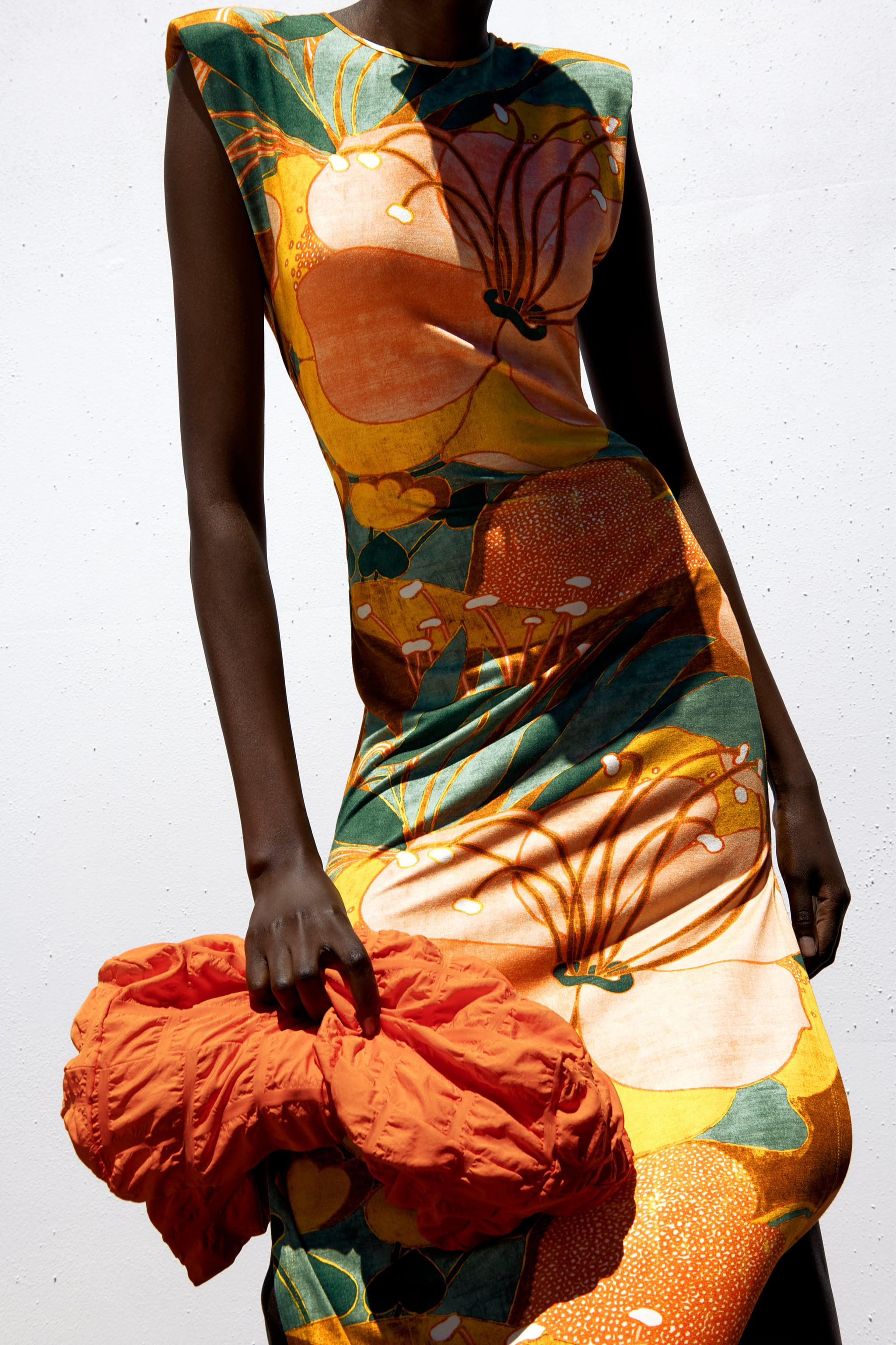 CUT OUT PRINTED DRESS 1