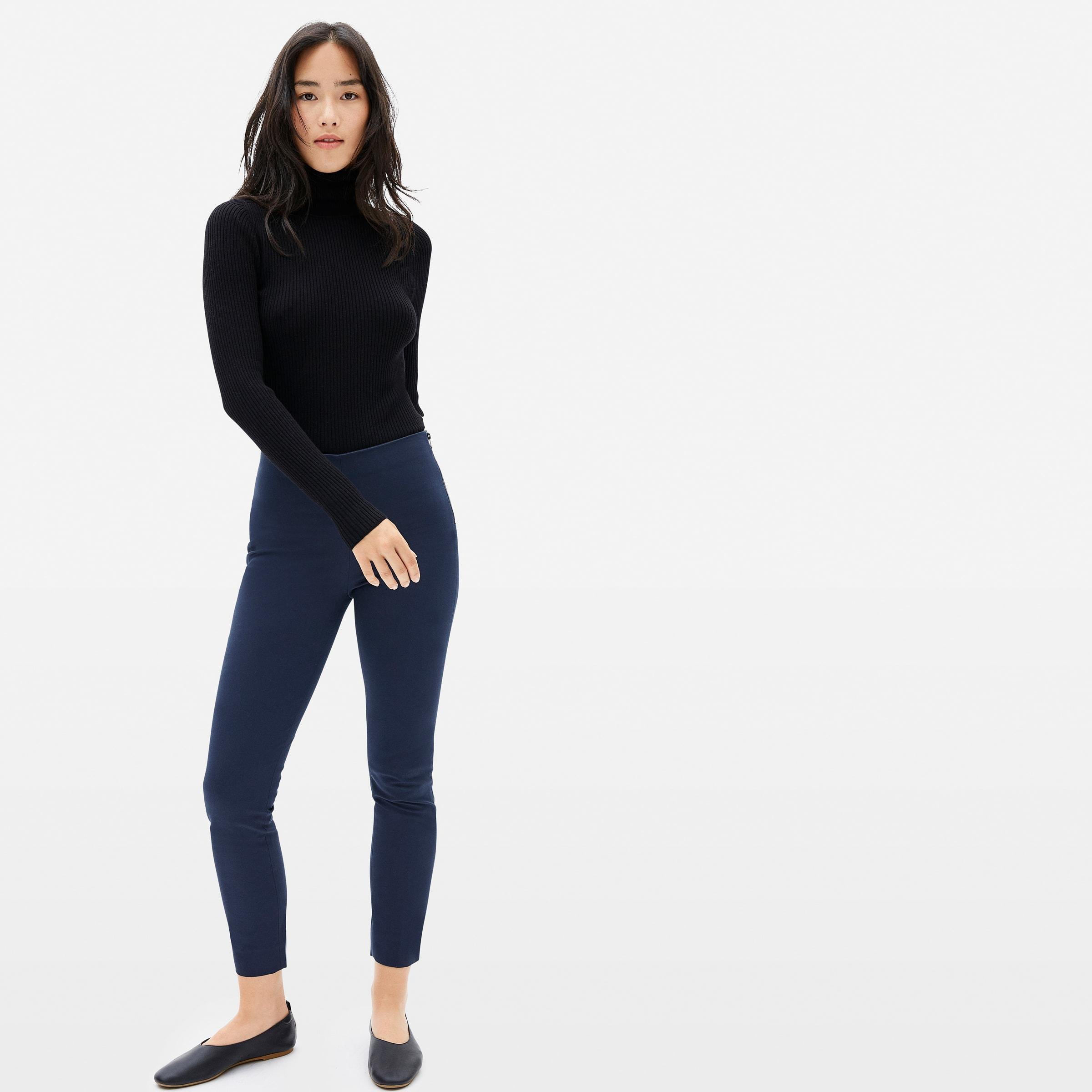The Side-Zip Stretch Cotton Pant