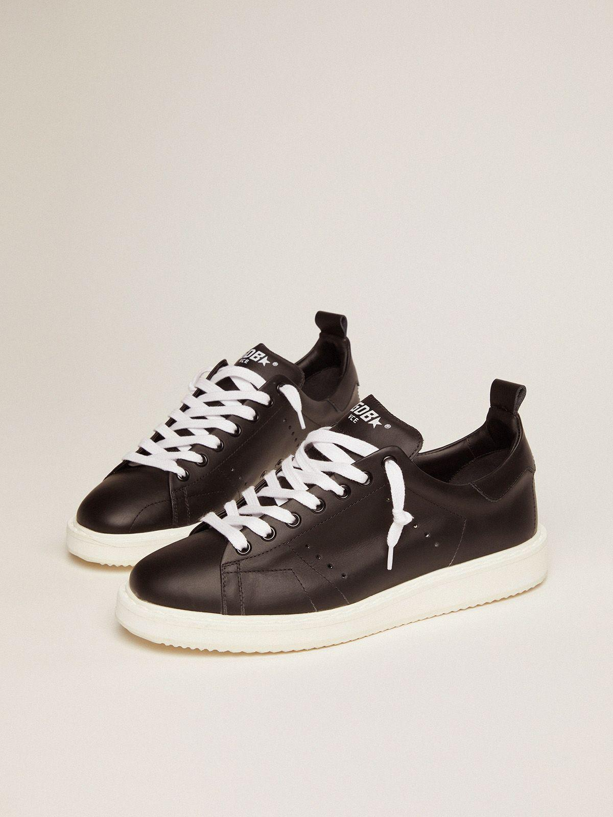 Starter sneakers in total black leather 1
