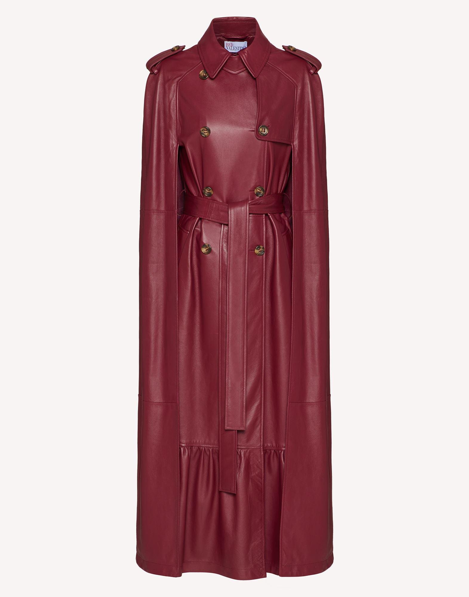 LEATHER TRENCH-LIKE CAPE 4
