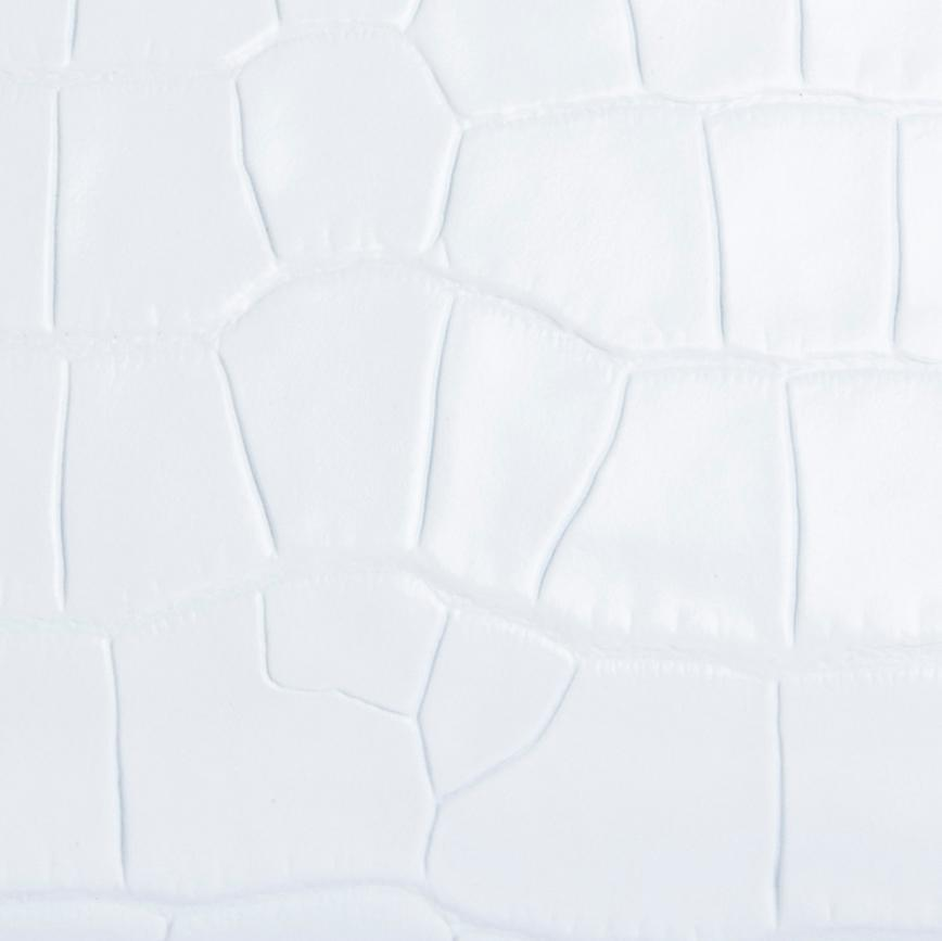Lora White Croco Embossed Leather 3