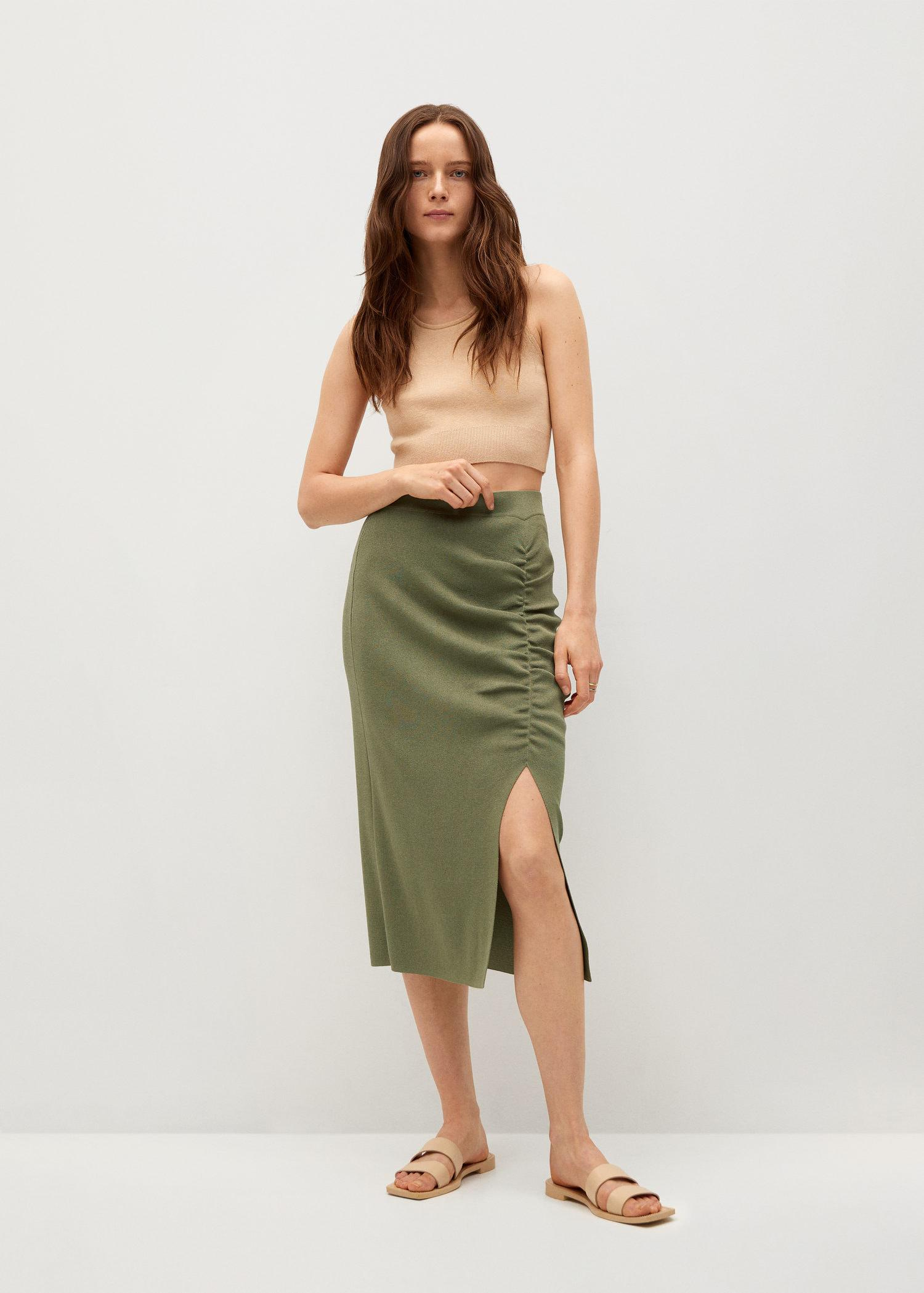 Ruched detail skirt 1