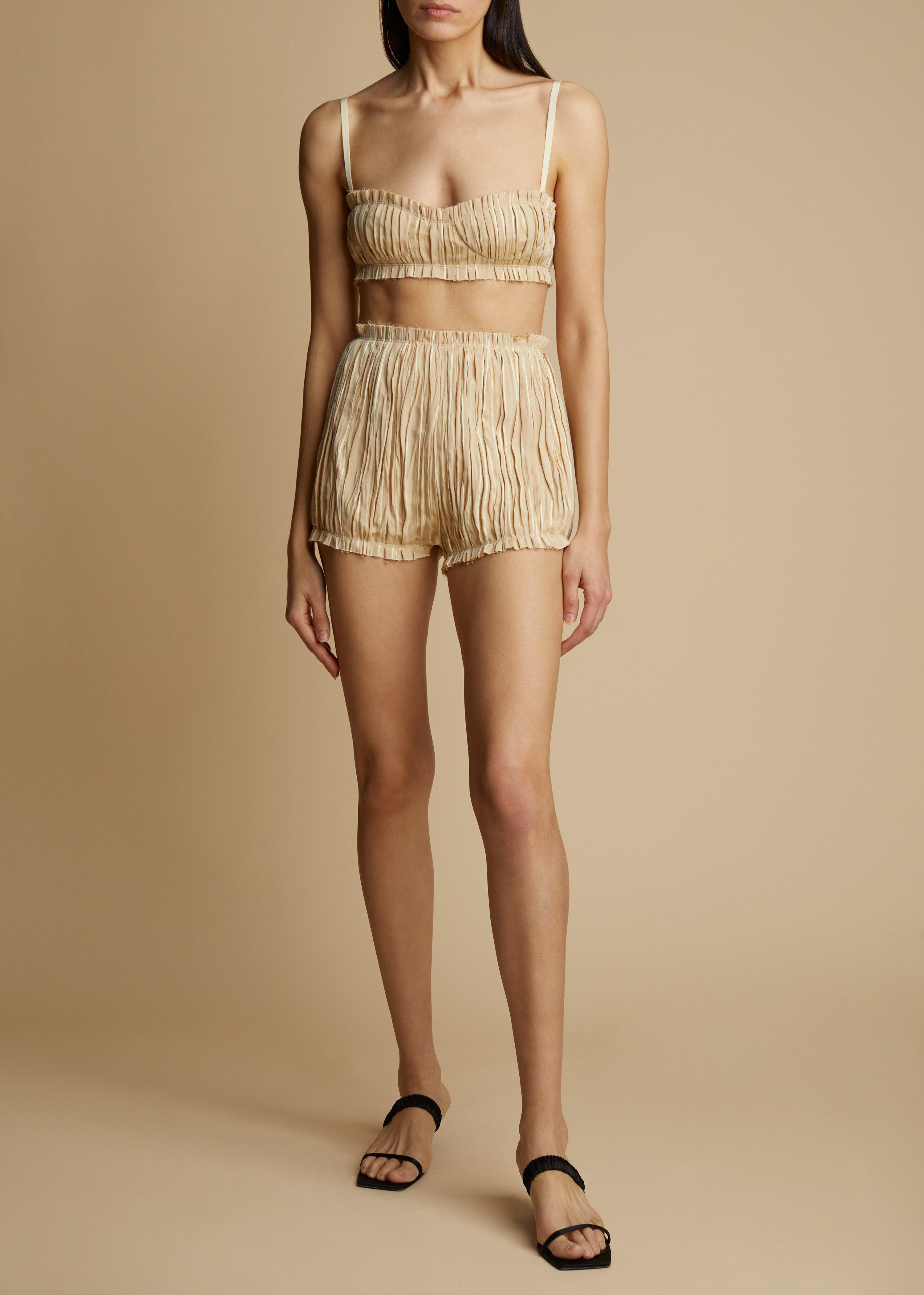 The Hilary Short in Beige