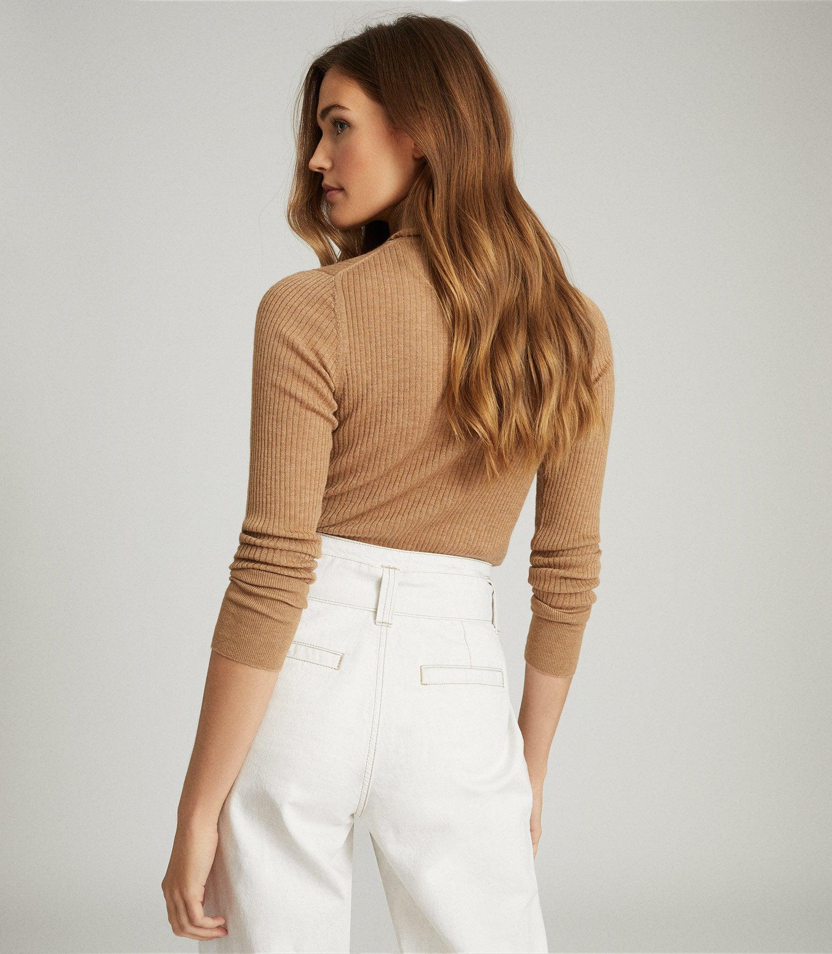 SOPHIE - KNITTED ROLL NECK TOP 2