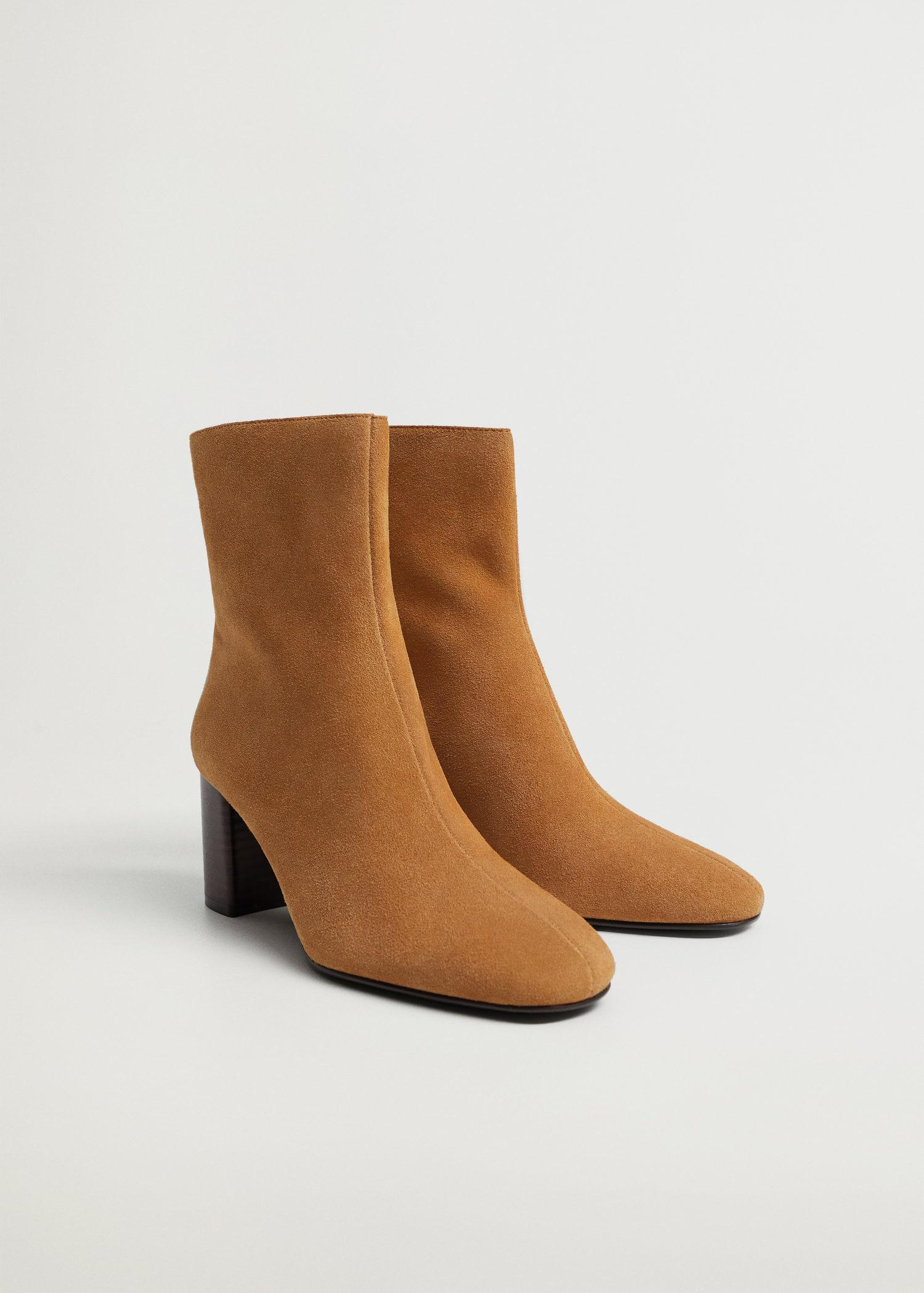 Suede leather ankle boots 1