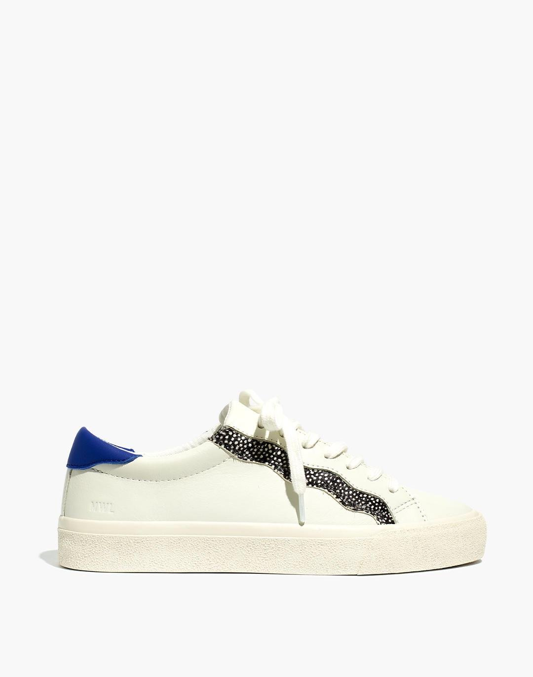 Sidewalk Low-Top Sneakers in Leather and Calf Hair: Wave Edition 1