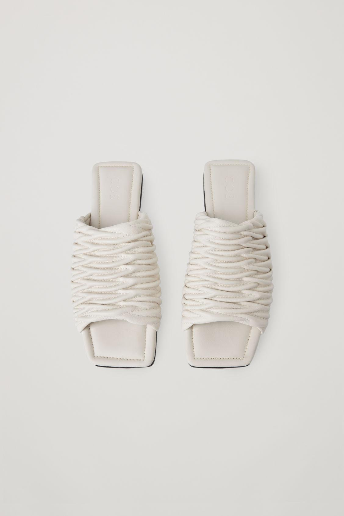 LEATHER SQUARE-TOE SANDALS 3