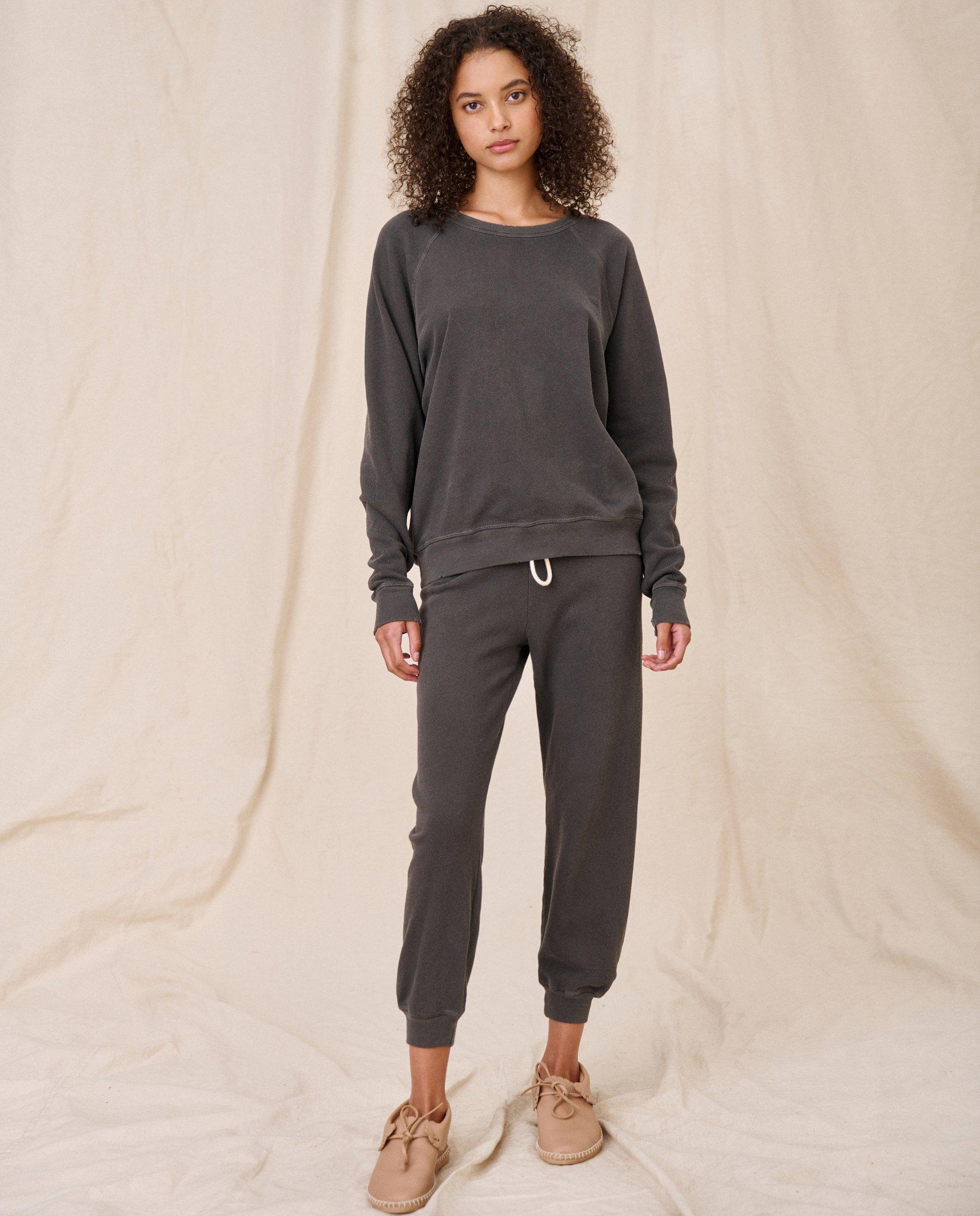 The College Sweatshirt. Solid -- Washed Black