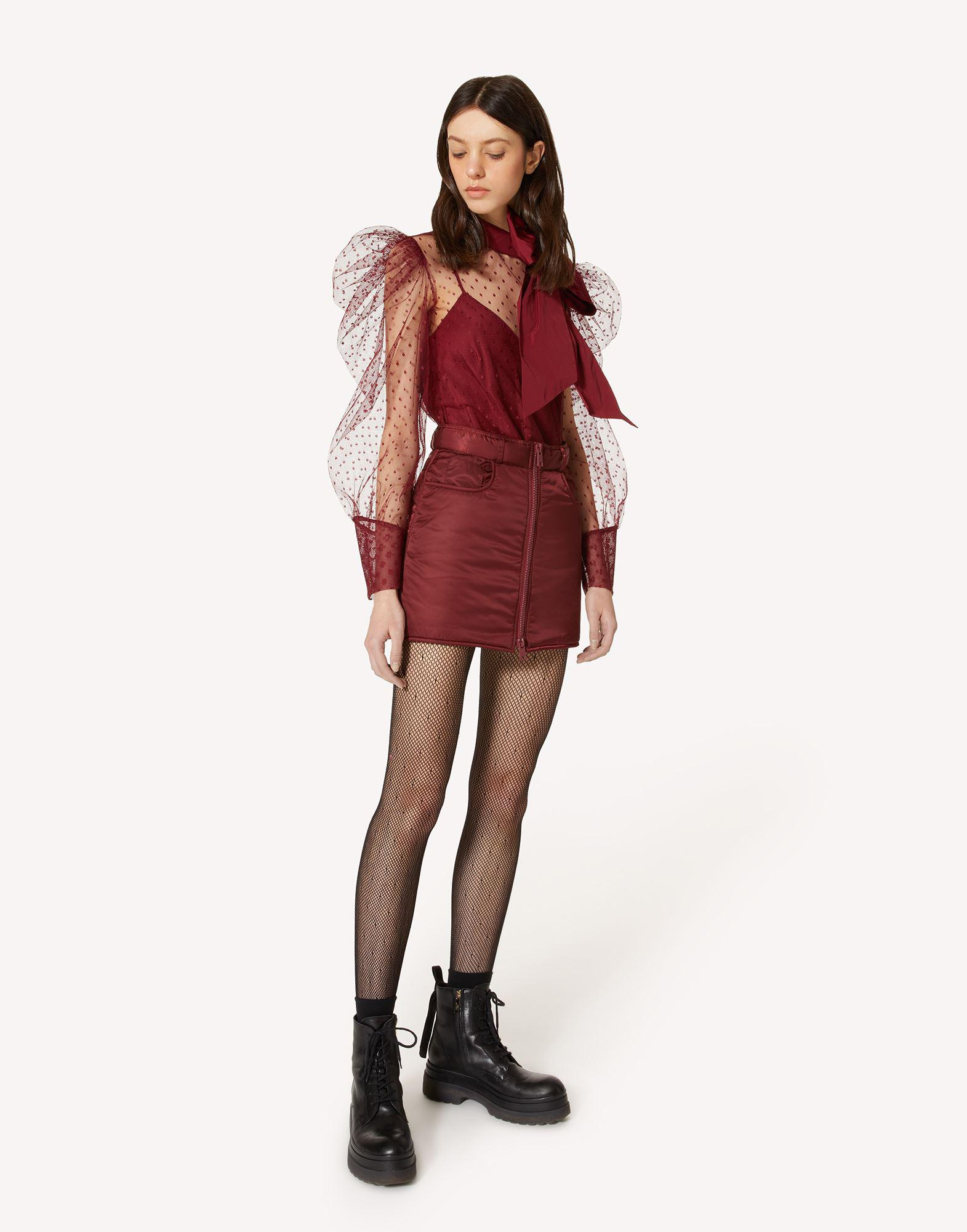 THE BLACK TAG. - POINT D'ESPRIT TULLE AND TAFFETA TOP 2