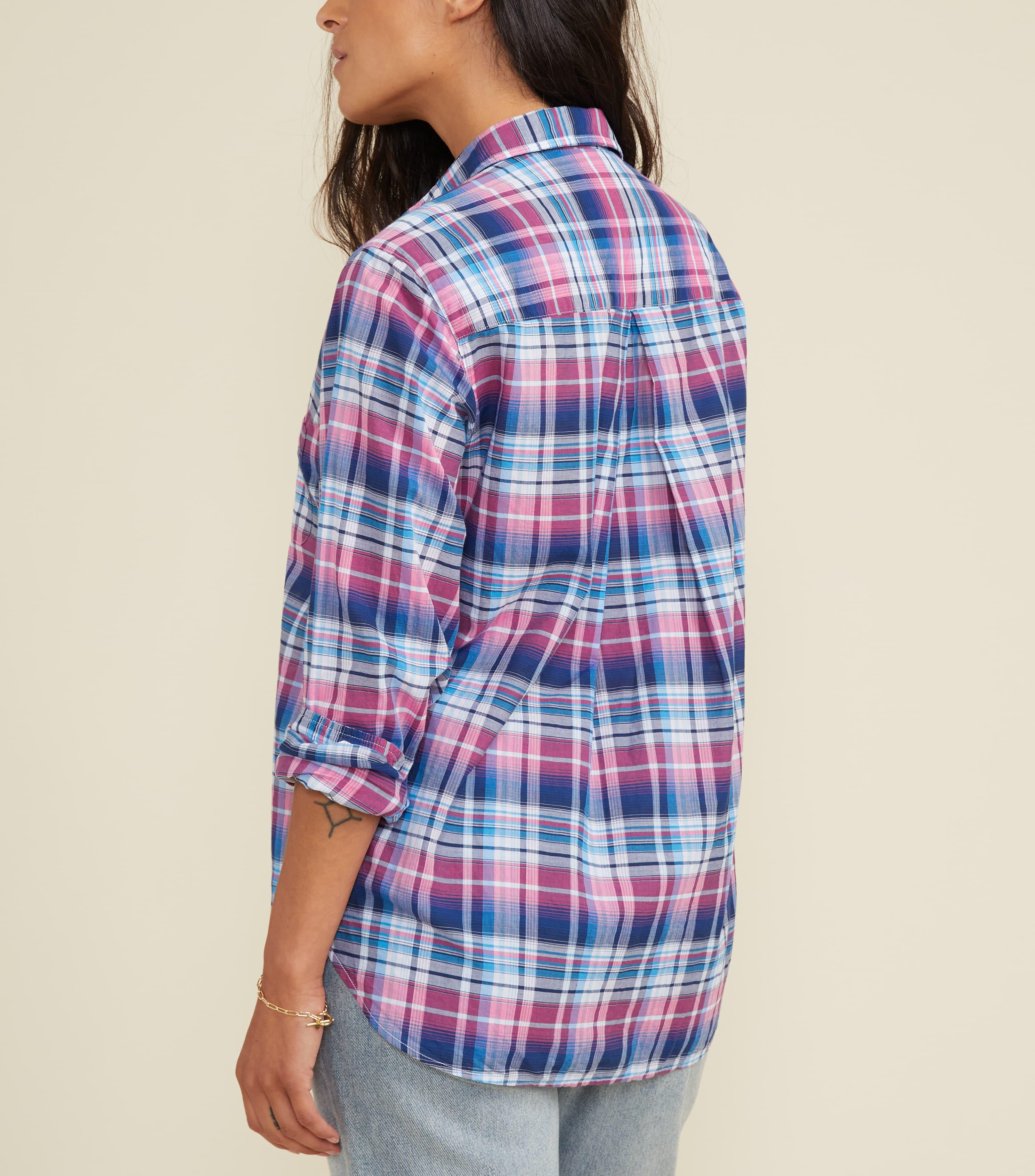 The Hero Blue and Pink Multi Plaid, Tissue Cotton Final Sale 2