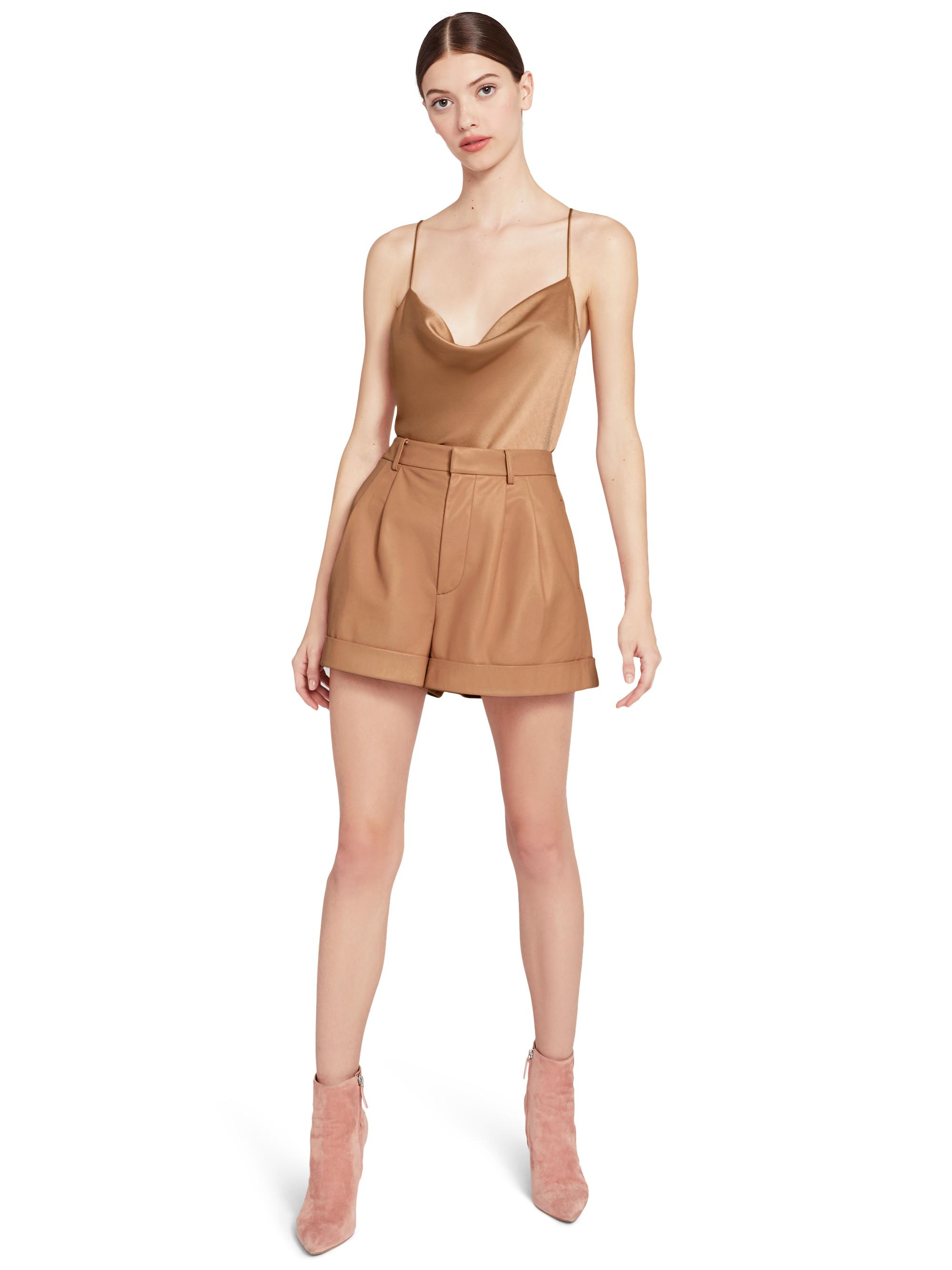 CONRY LEATHER PLEATED SHORTS 2