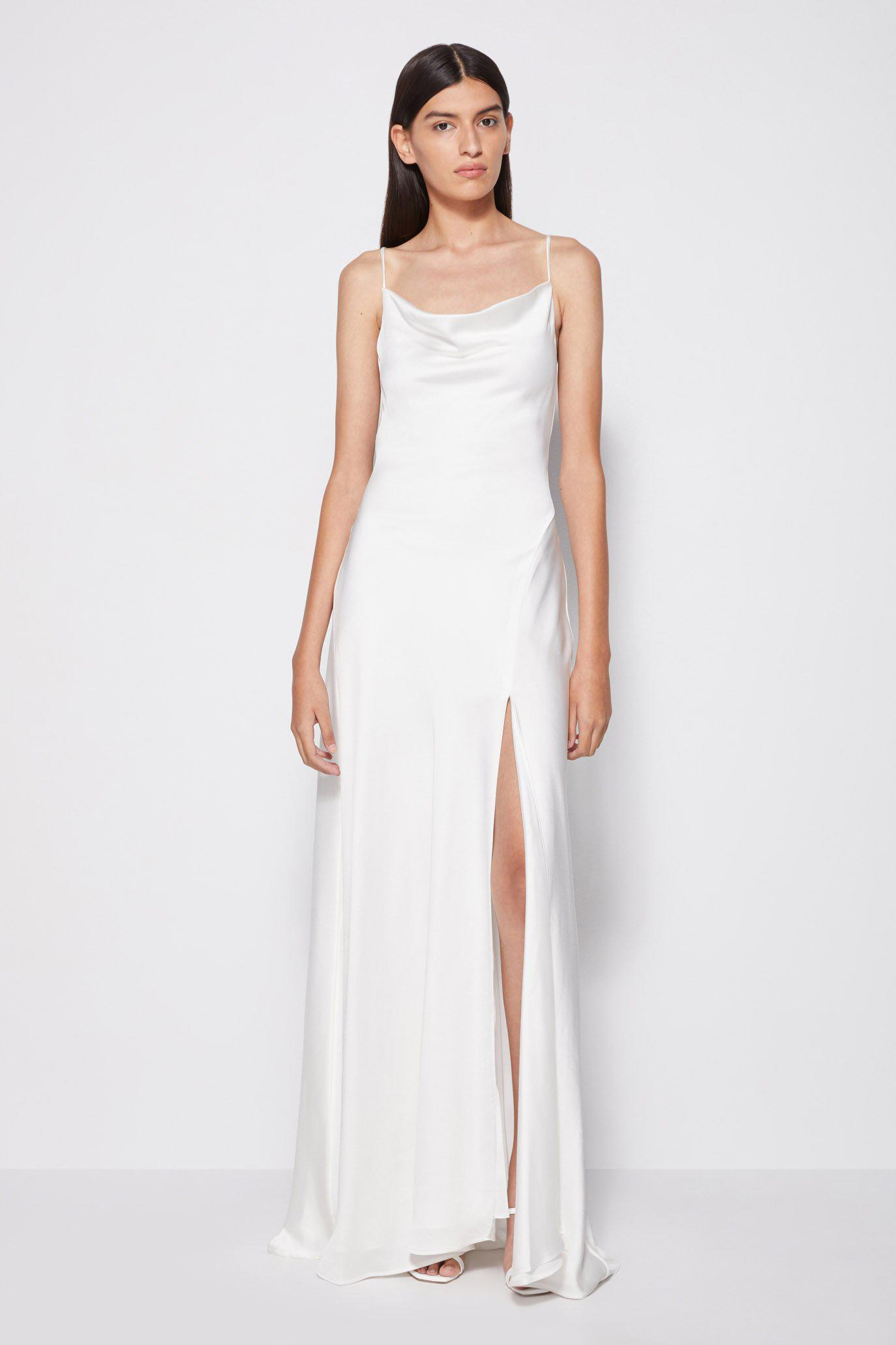 Exclusive Finley Satin Gown
