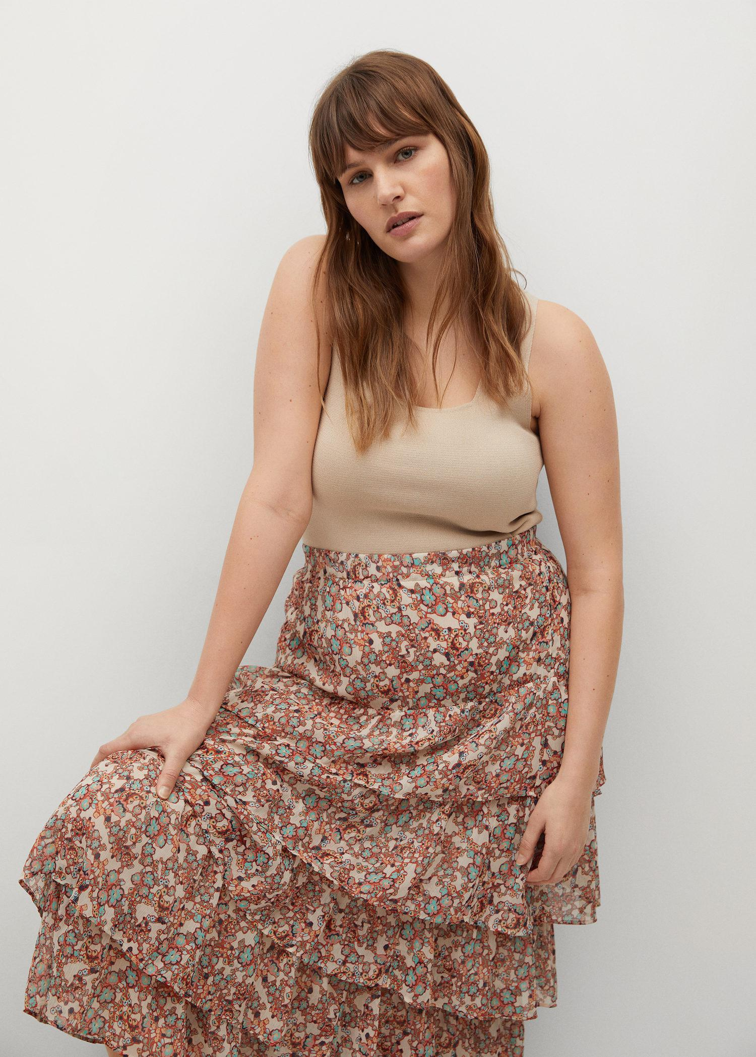 Printed skirt with ruffles 4
