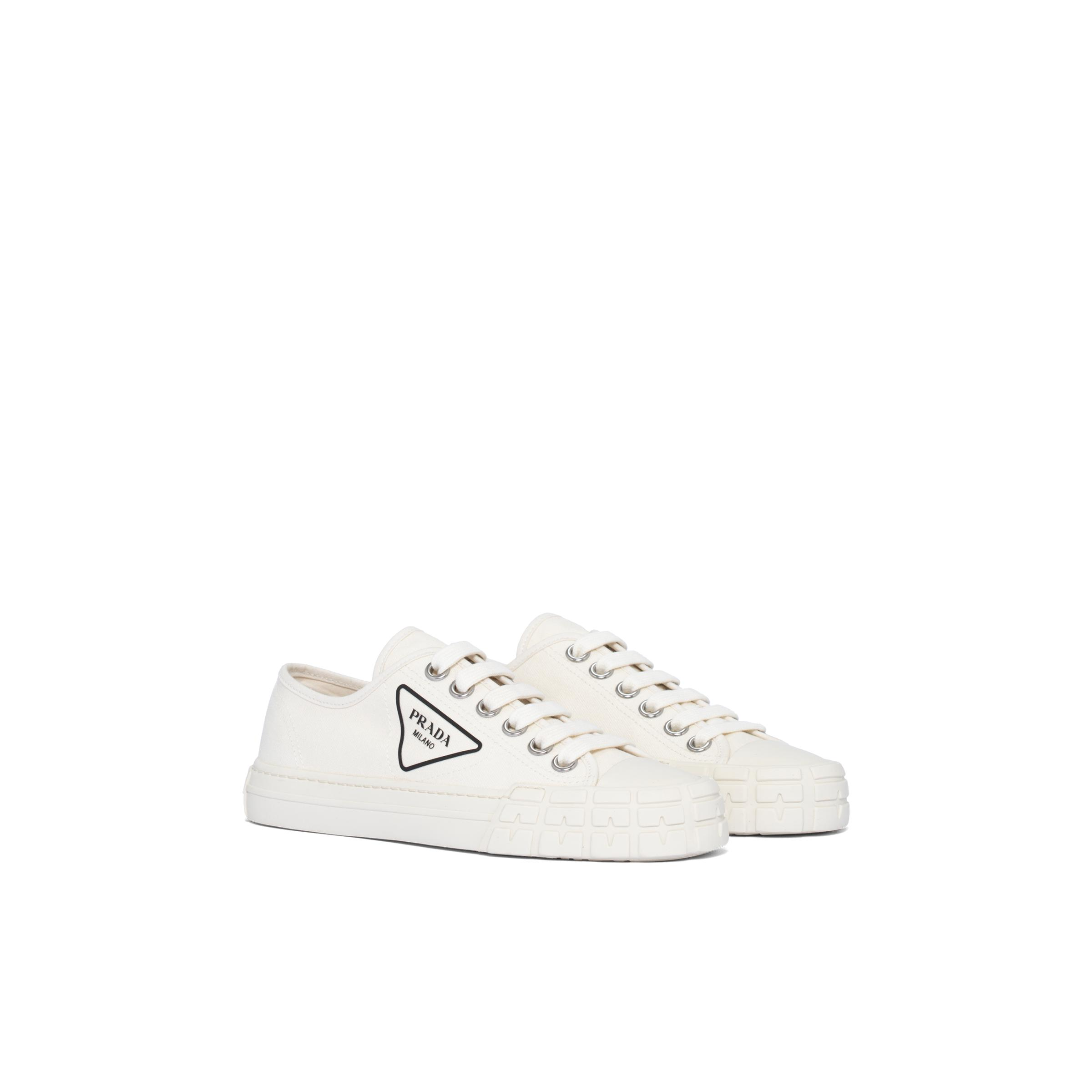 Cotton Canvas Sneakers Women Ivory