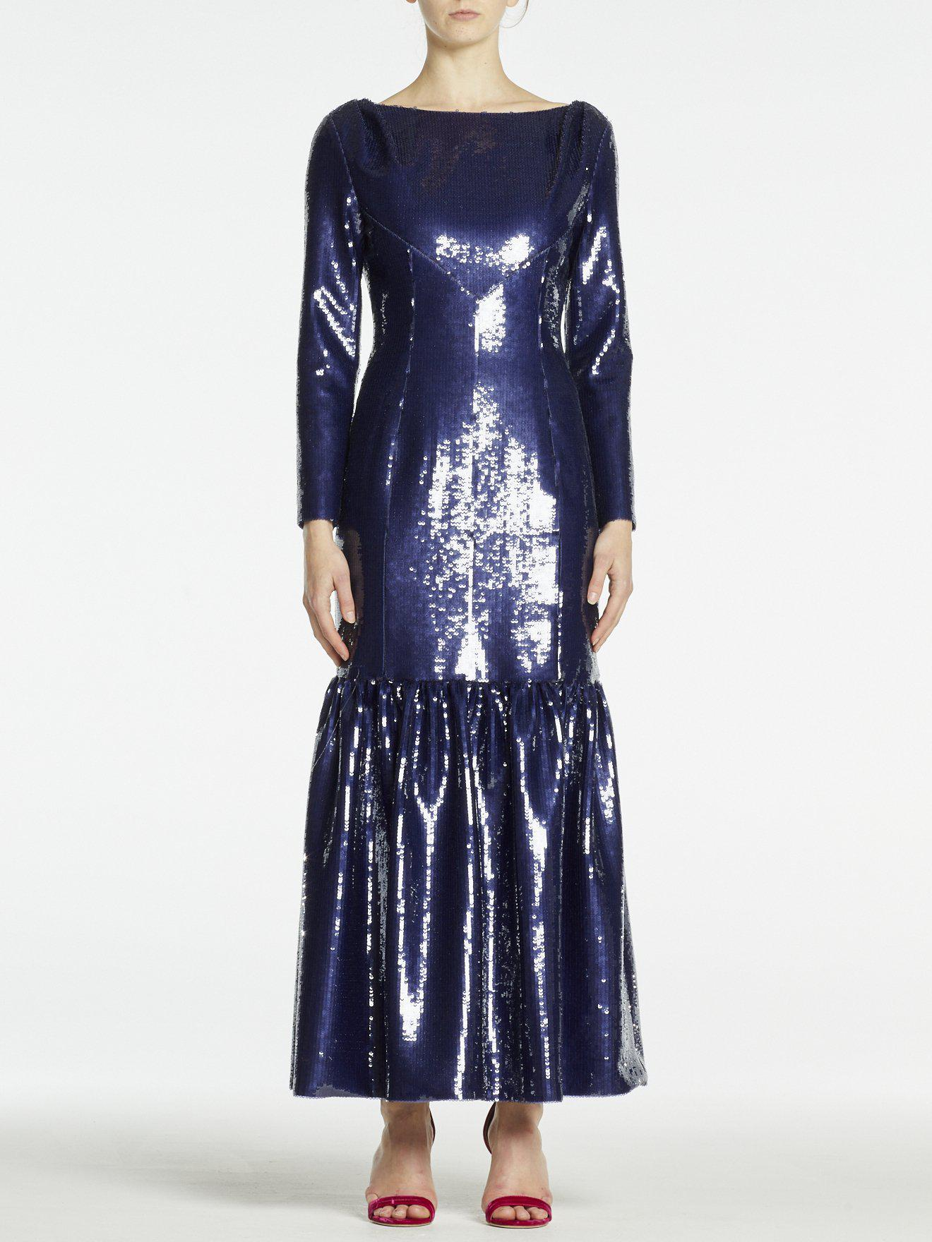 MIRTA GOWN MIDNIGHT SKY SEQUINS