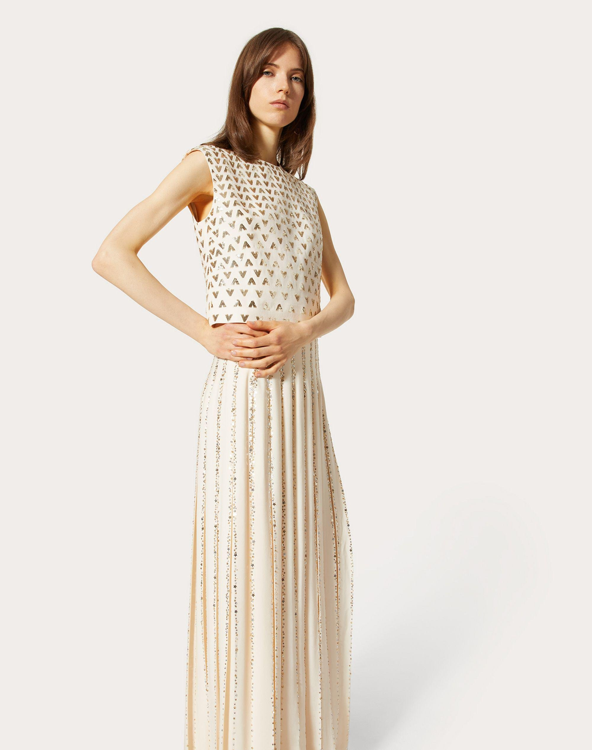 EMBROIDERED GEORGETTE EVENING DRESS 3