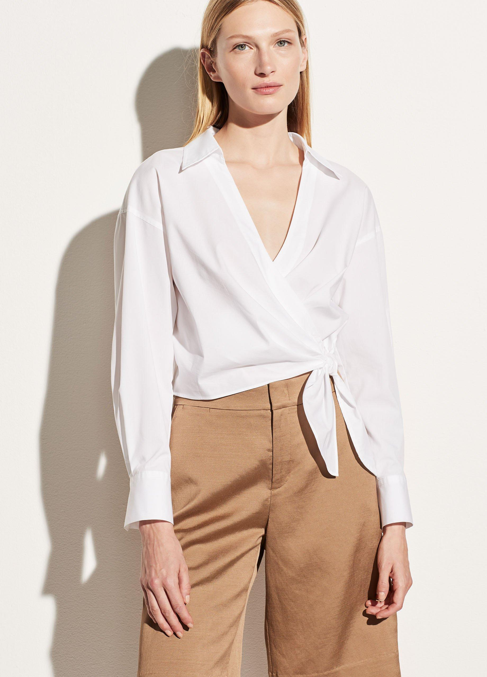 Slim Fitted Wrap Shirt