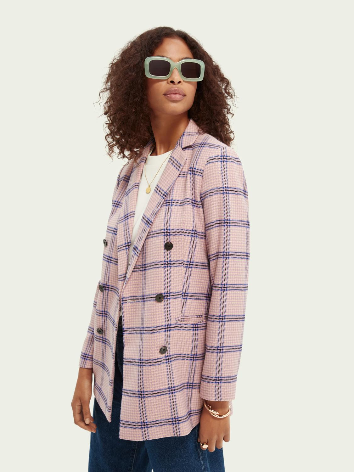 Houndstooth double-breasted blazer 3
