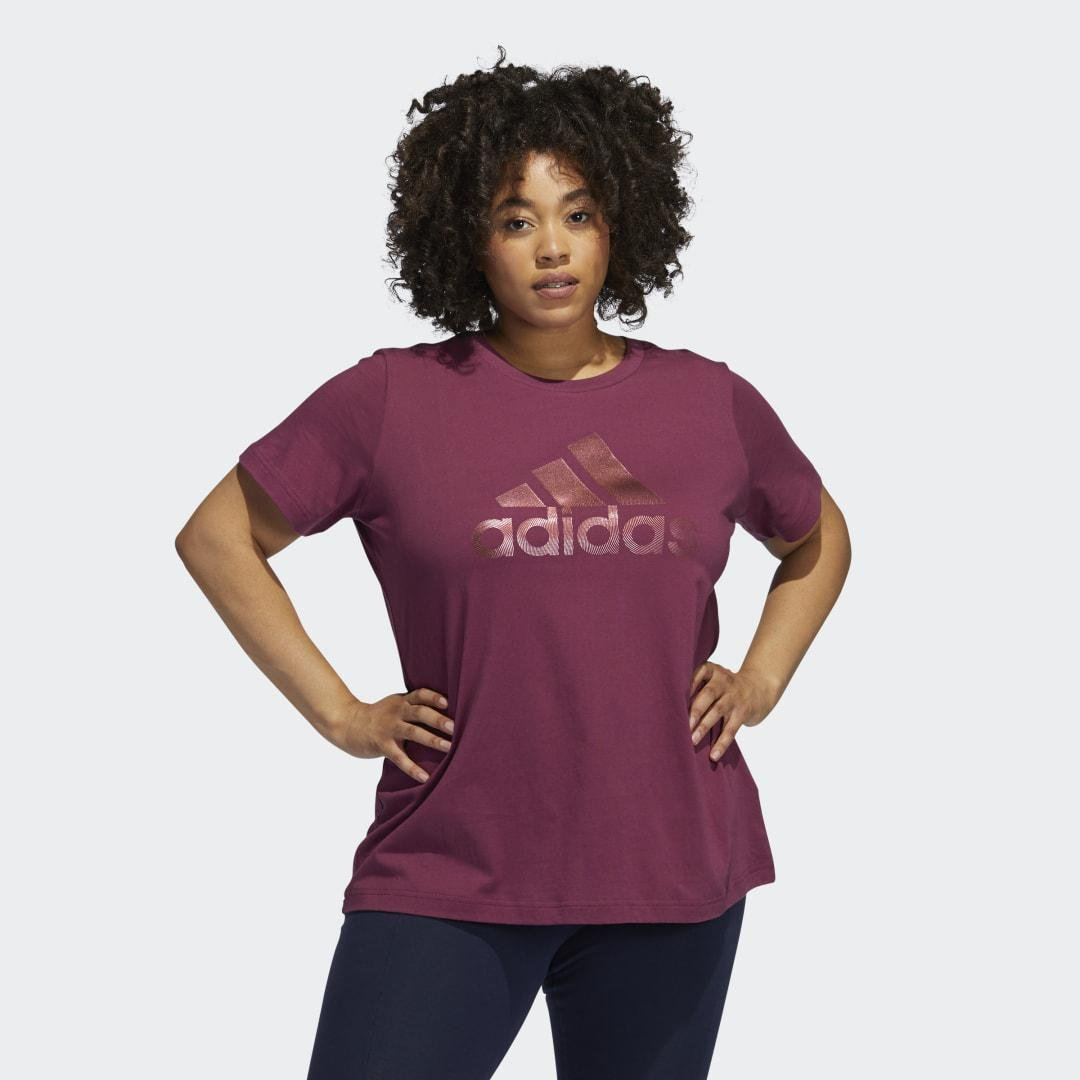 Holiday Graphic Short Sleeve Tee (Plus Size) Victory Crimson