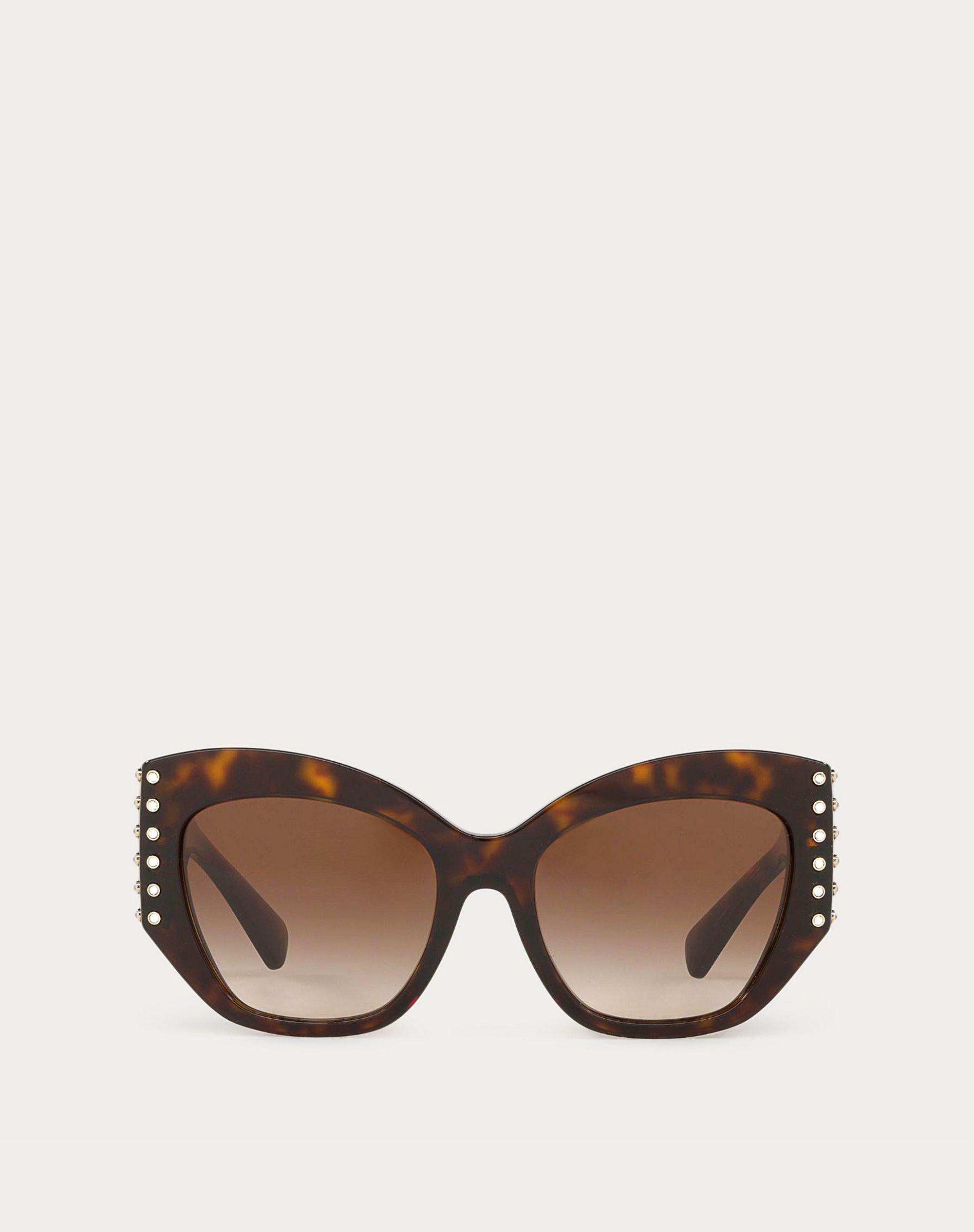 ACETATE SUNGLASSES WITH CRYSTAL STUDS 0