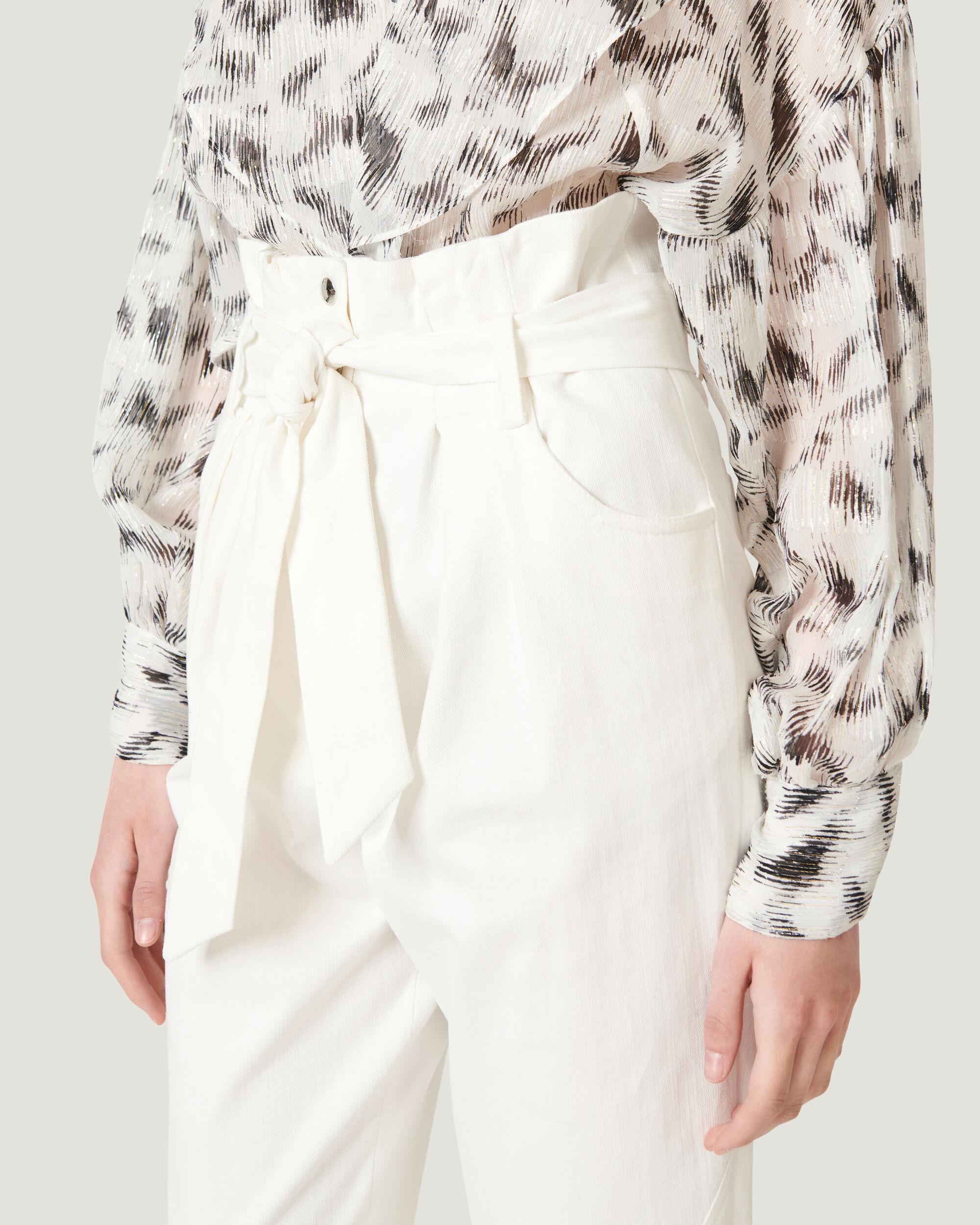 GARETTI CROPPED PAPERBAG TROUSERS 4