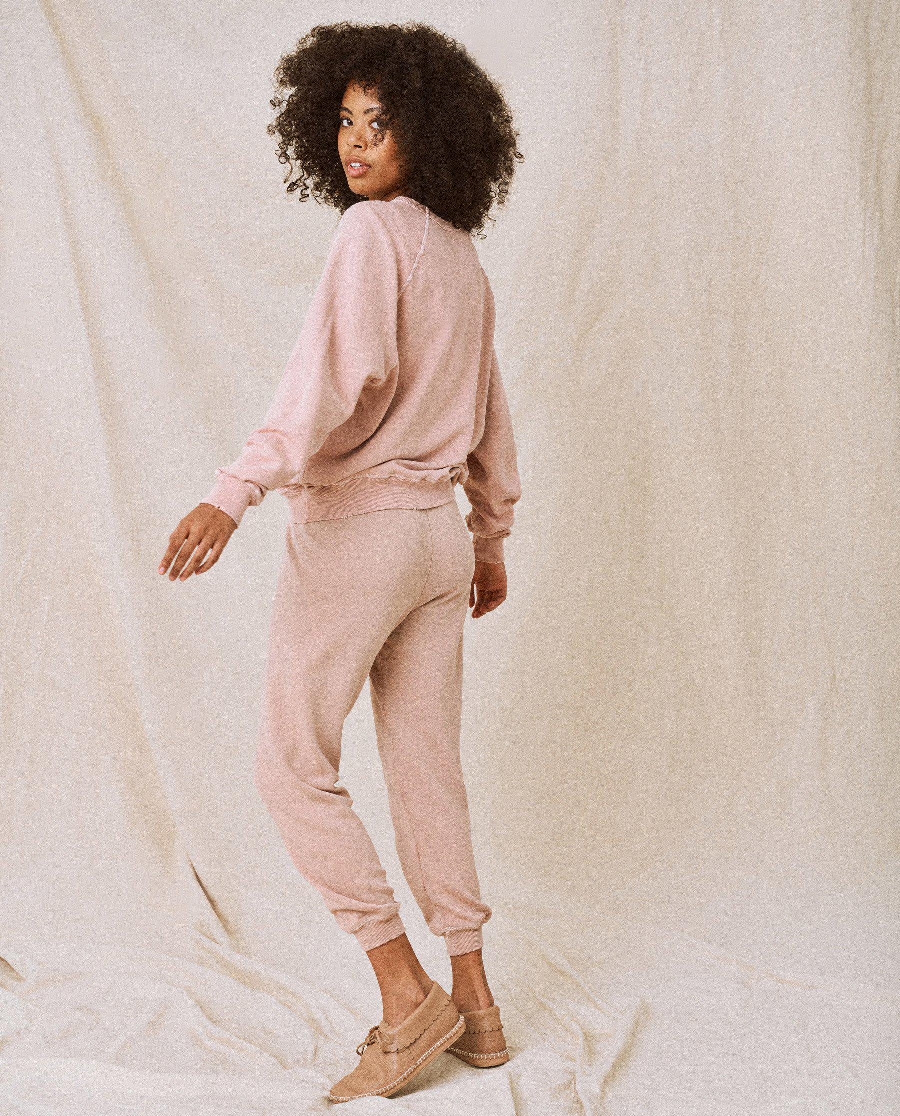 The Cropped Sweatpant. Solid -- Carnation 3