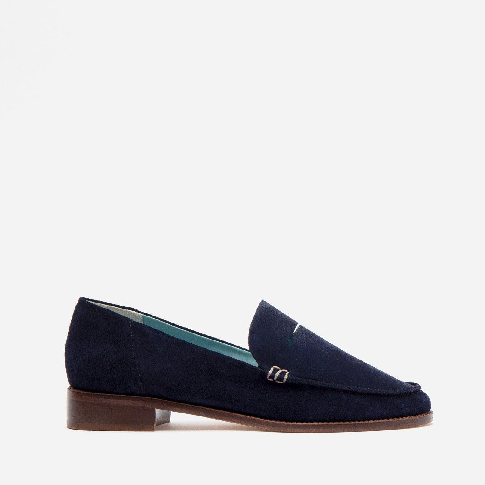Penny Loafer Suede Navy