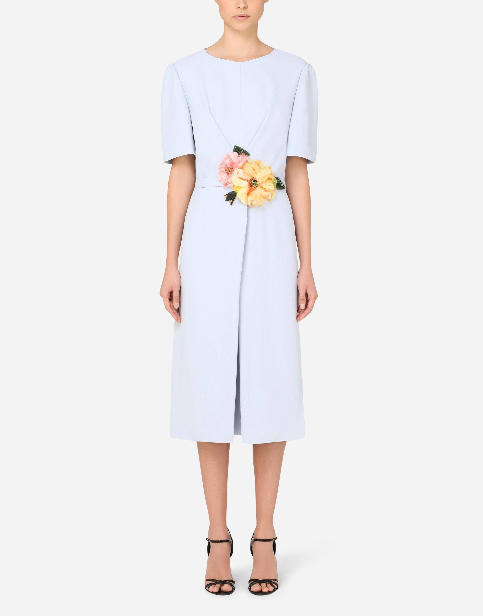 Cady midi dress with floral detailing