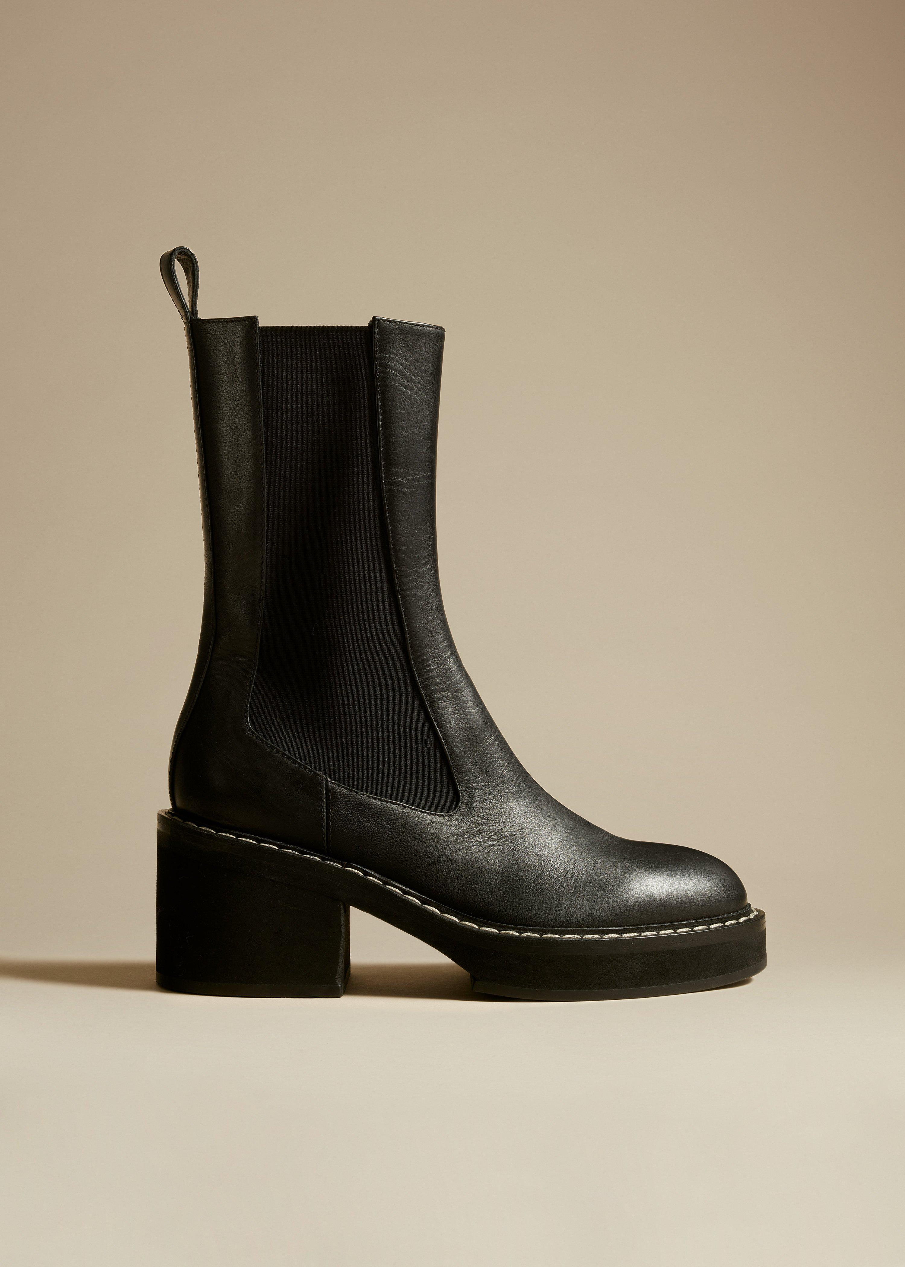 The Calgary Boot in Black Leather