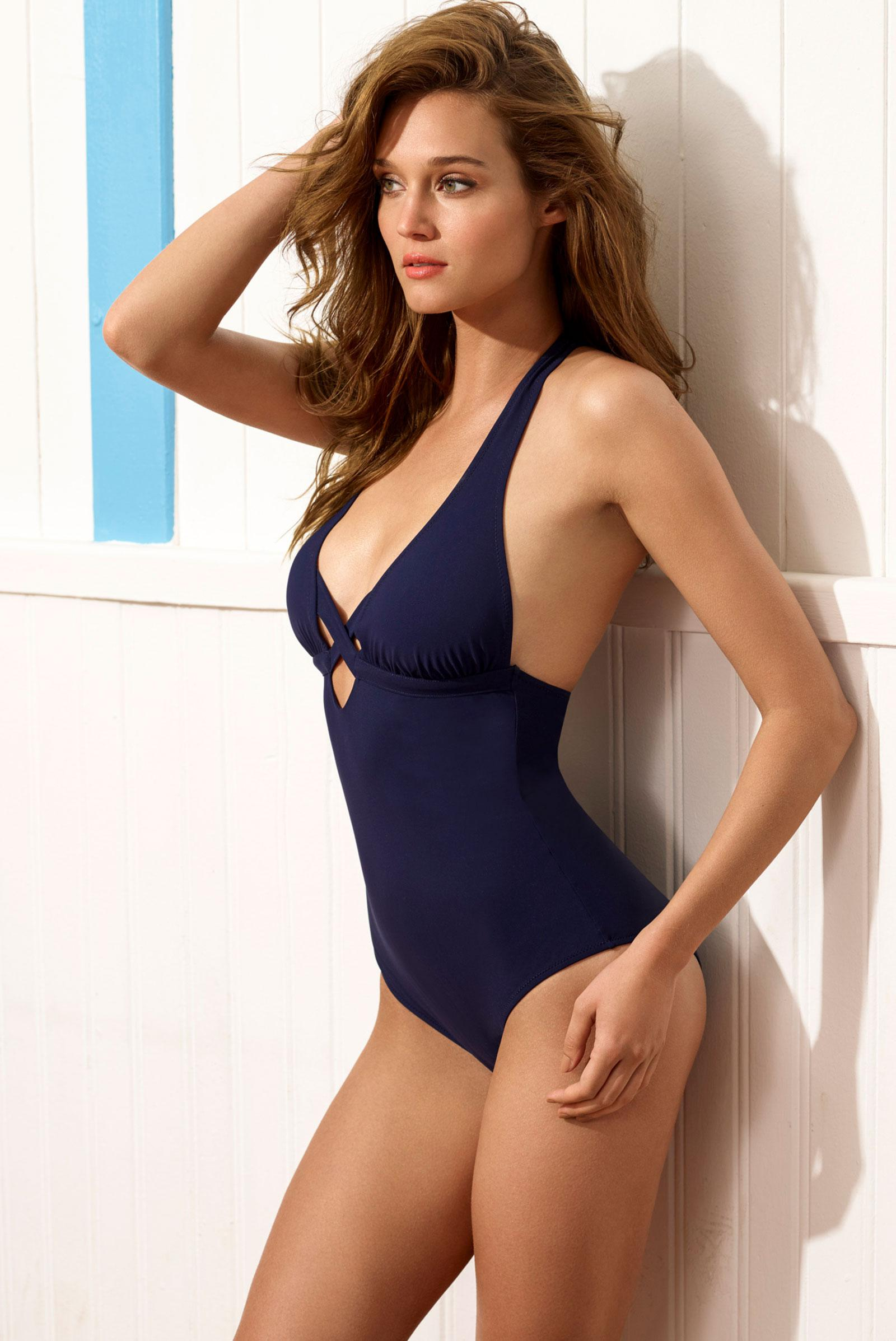 CANNES Cross one piece Navy