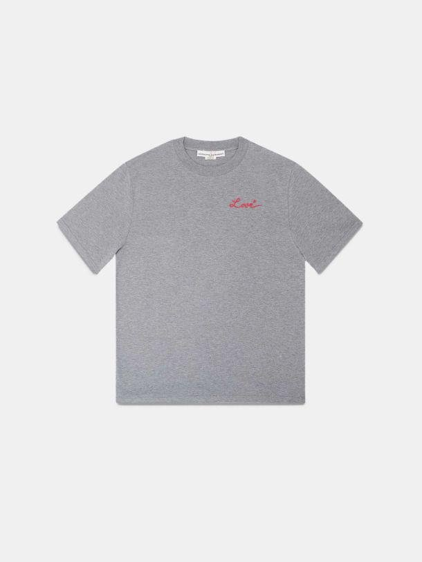 Grey Golden T-shirt with Love embroidery 4