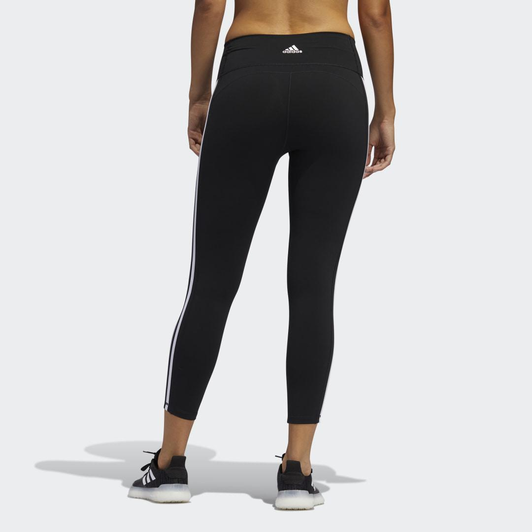 Believe This 2.0 3-Stripes 7/8 Tights Black 1