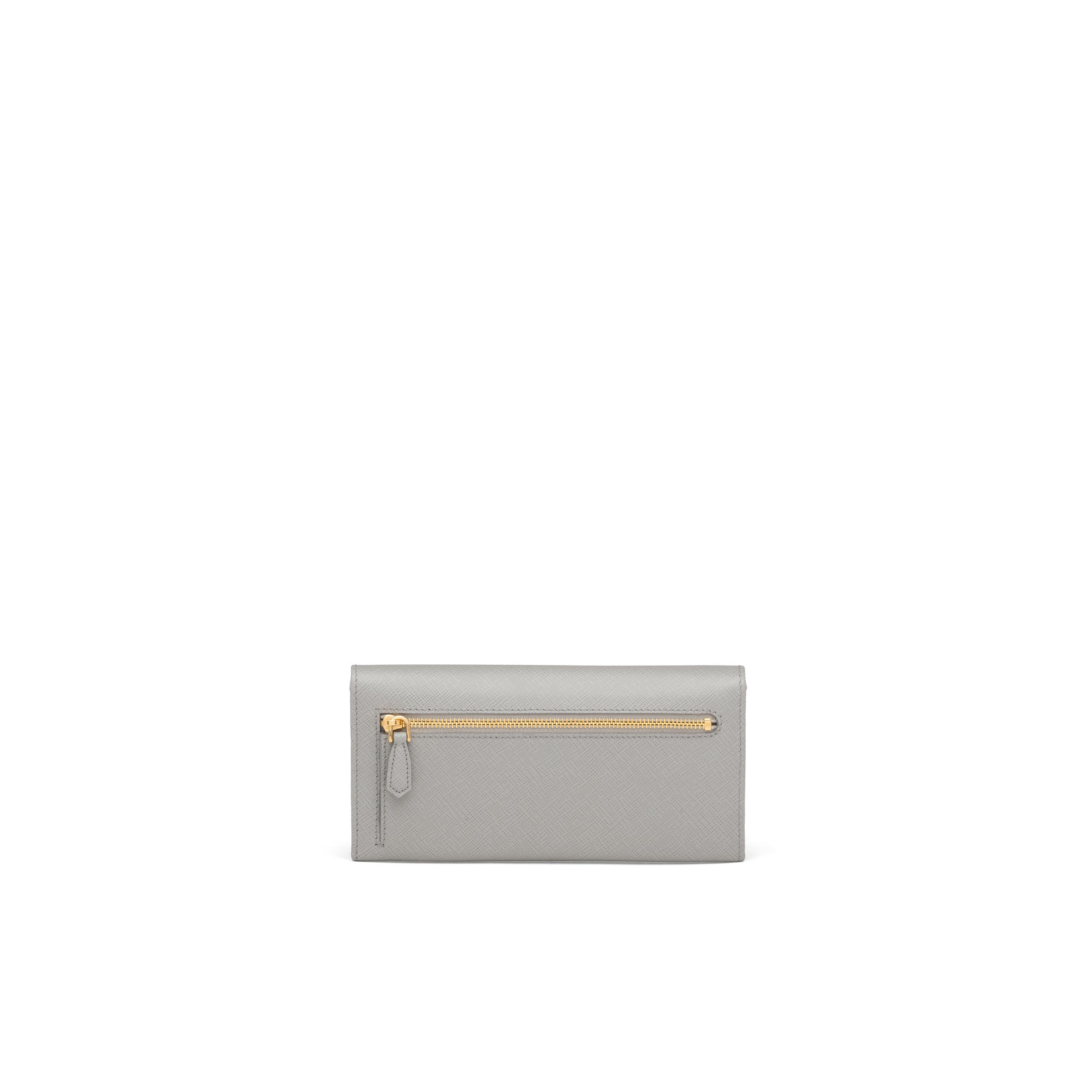 Large Saffiano Leather Wallet Women Cloudy Gray/marble Gray 4